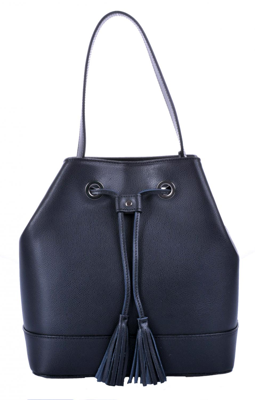 elegantní kožená kabelka - vak 5324 černá 9d807da9d3f