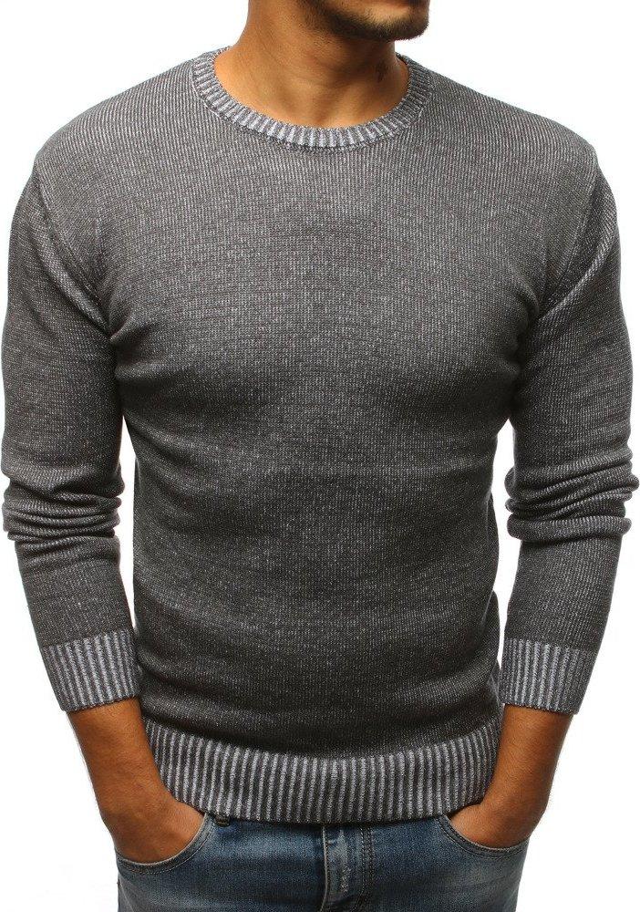 9cd784e1f01a BASIC Pánsky tmavo šedý sveter (wx1067) - Glami.sk