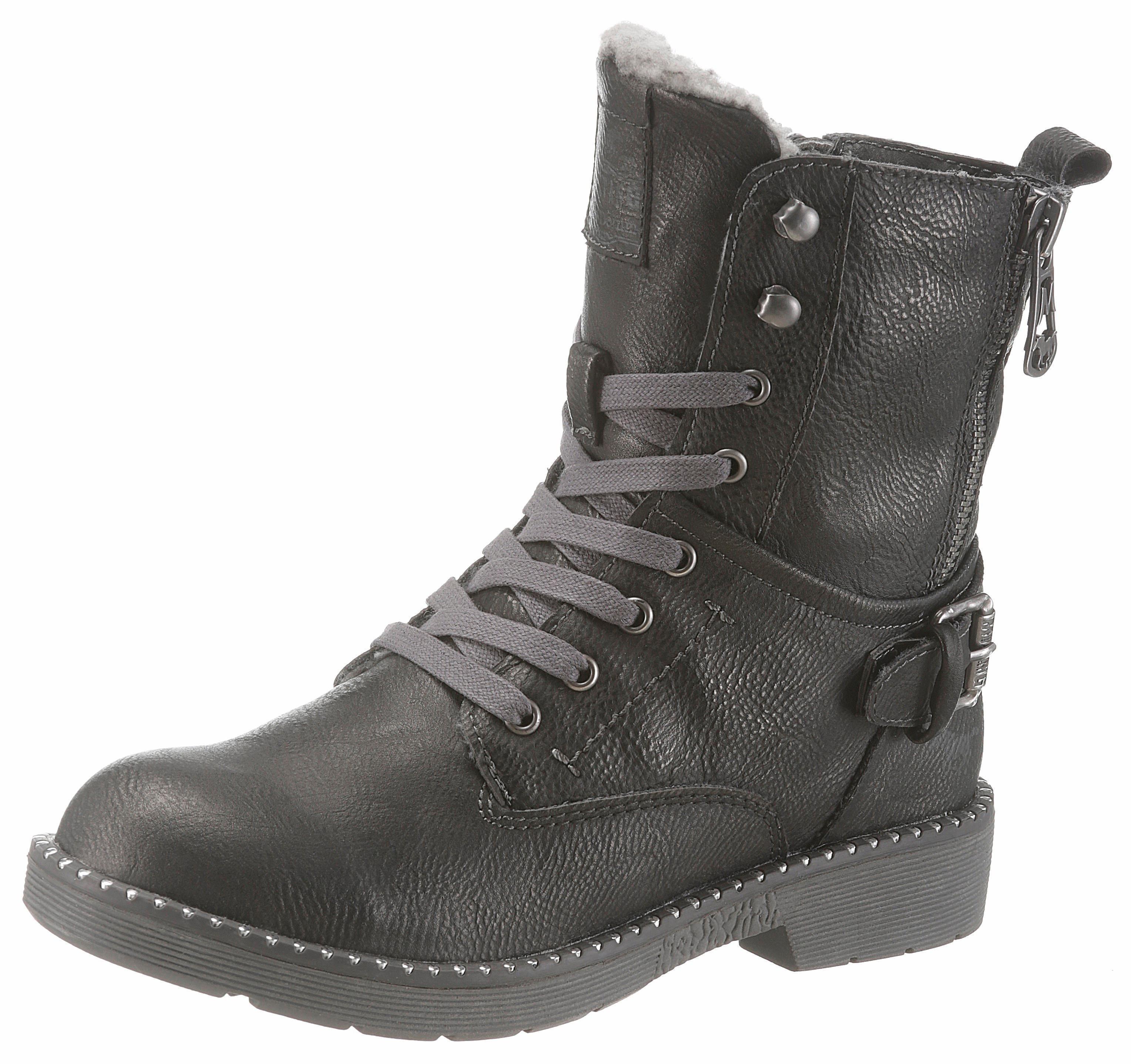 063a87eb2a0d7 Mustang Shoes Šnurovacie topánky vysoké čierna - Glami.sk