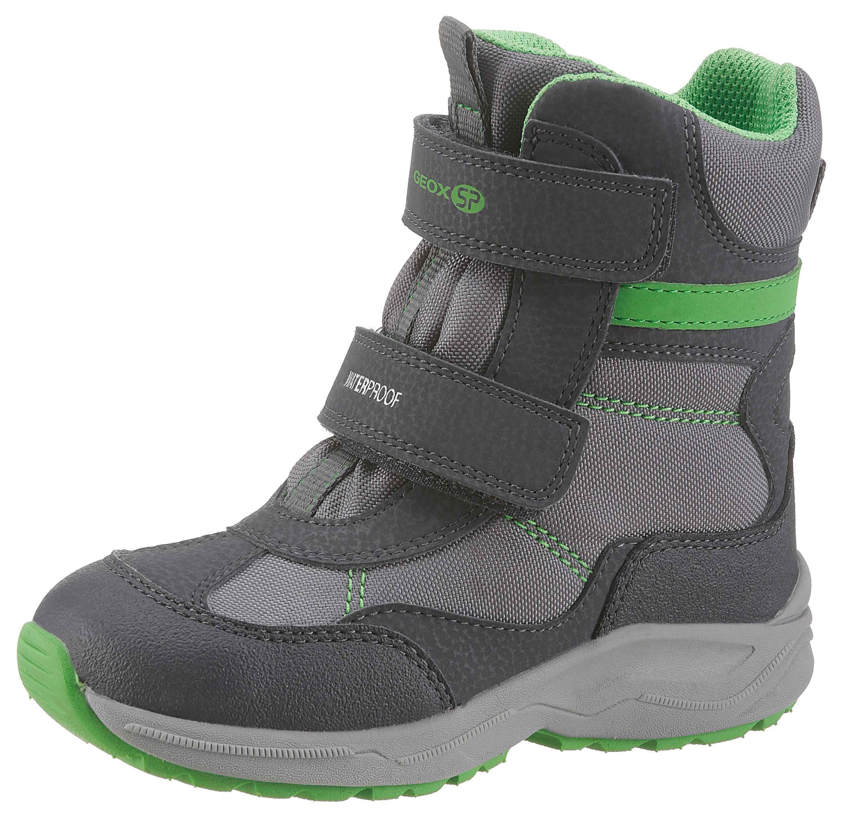 852634f3c7b5d Geox Kids Čižmy na suchý zips »New Alaska Boy« morská modrá-sivá-zelená
