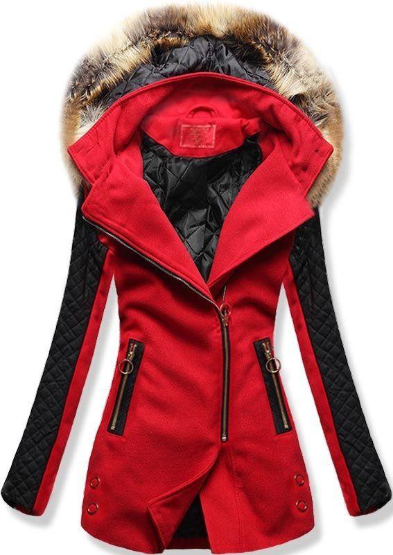 Dámský zimní kabát Radei červený - červená - Glami.cz 3416766854