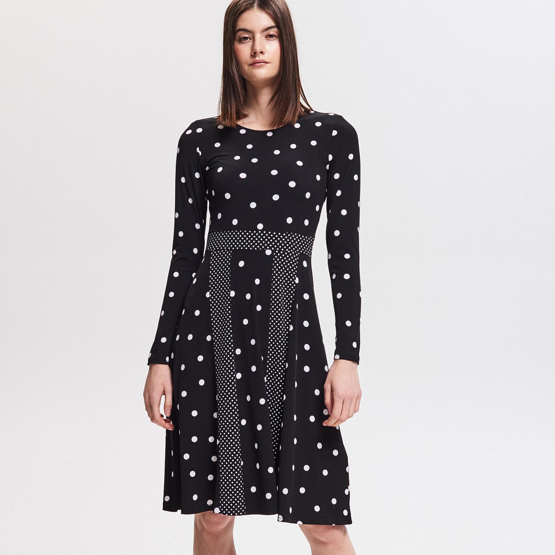 f523f9380f67 Reserved - Vzorované šaty - Černý - Glami.cz