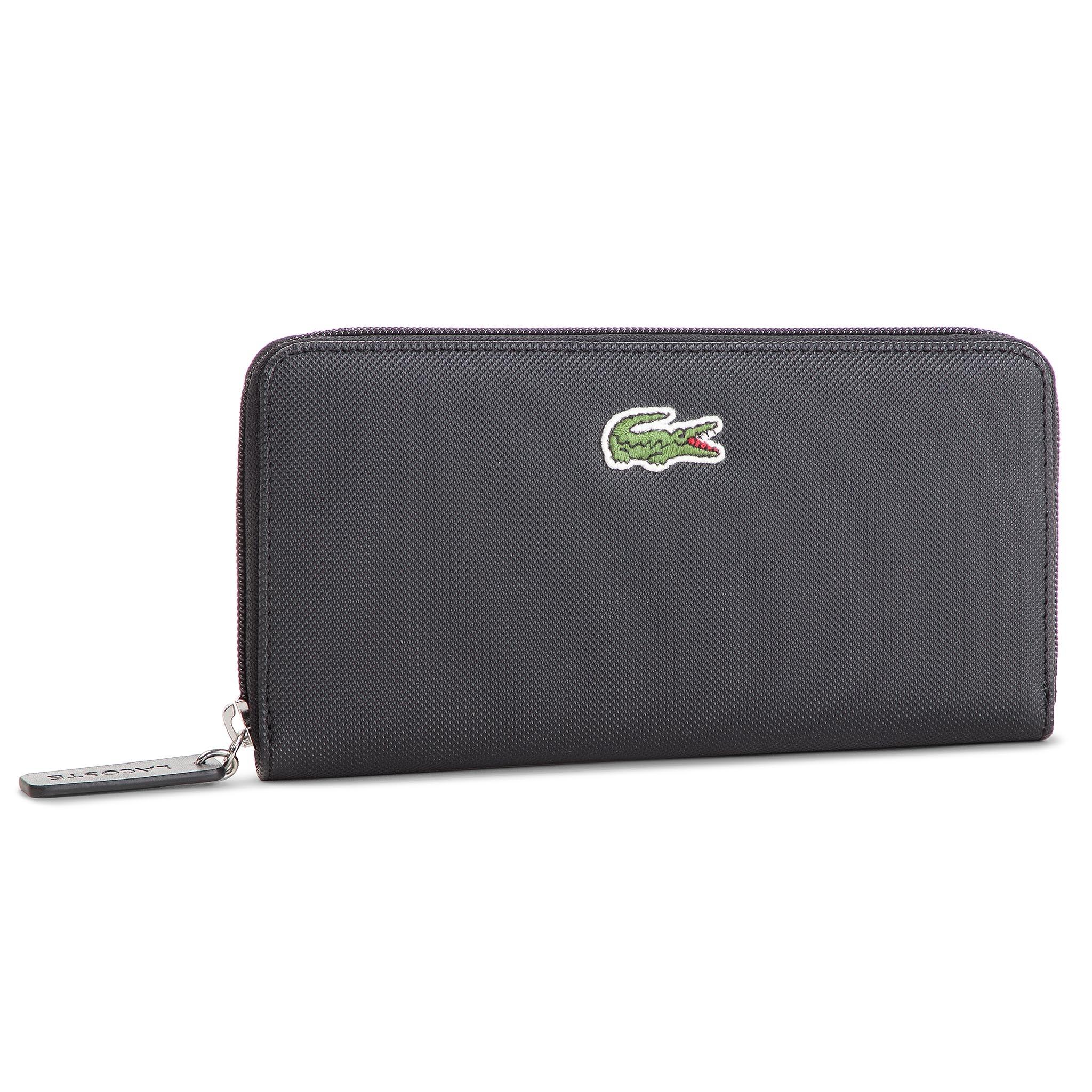 Veľká Peňaženka Dámska LACOSTE - L Zip Wallet NF2285PO Black 000 ... 22911a98c80