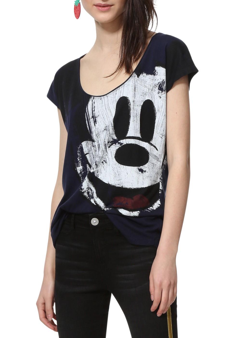 52025f603fec Desigual modré tričko TS Mickey - Glami.sk
