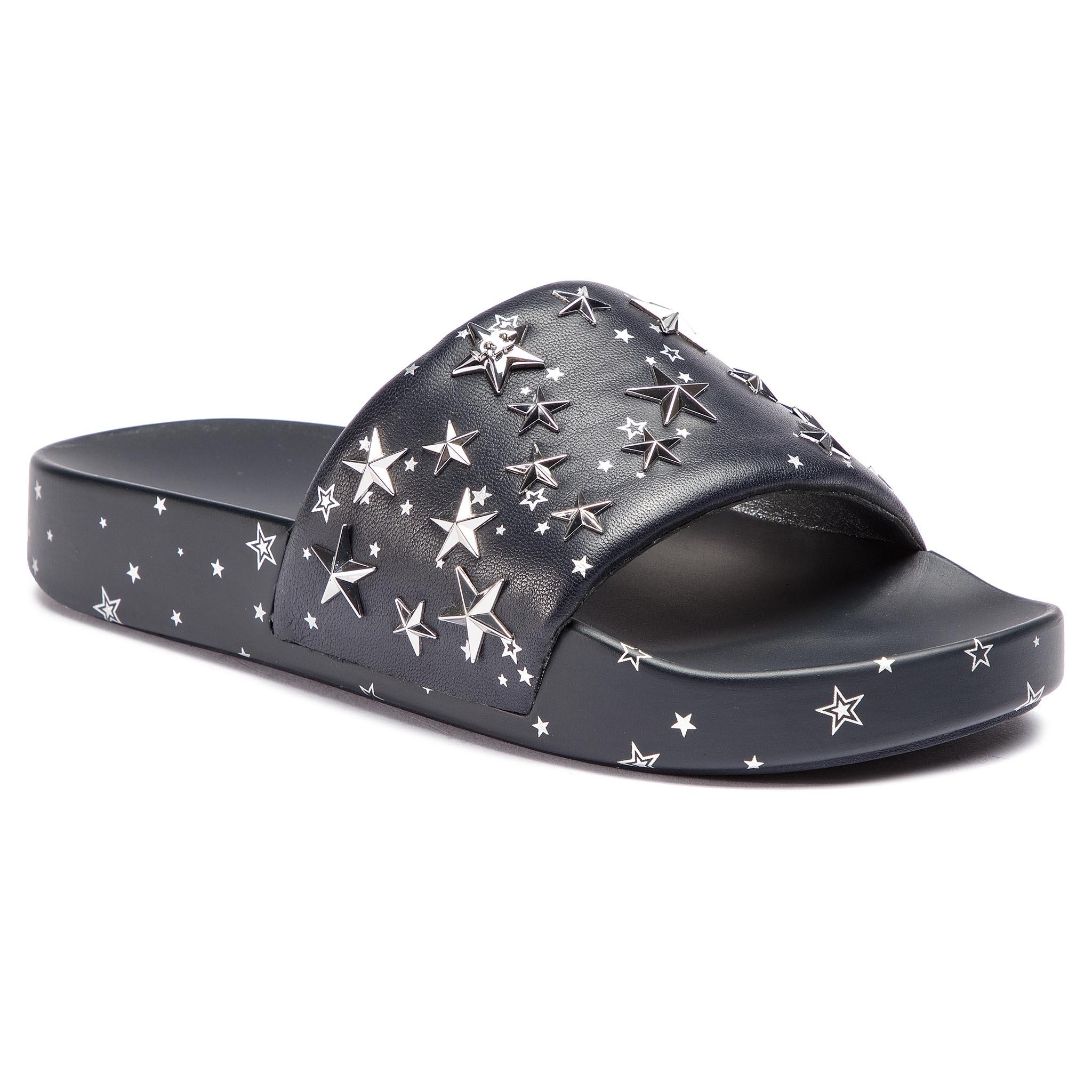 4e5cf9498 Papucs TORY BURCH - Star Slide 52143 Perfect Navy Silver 403 - Glami.hu