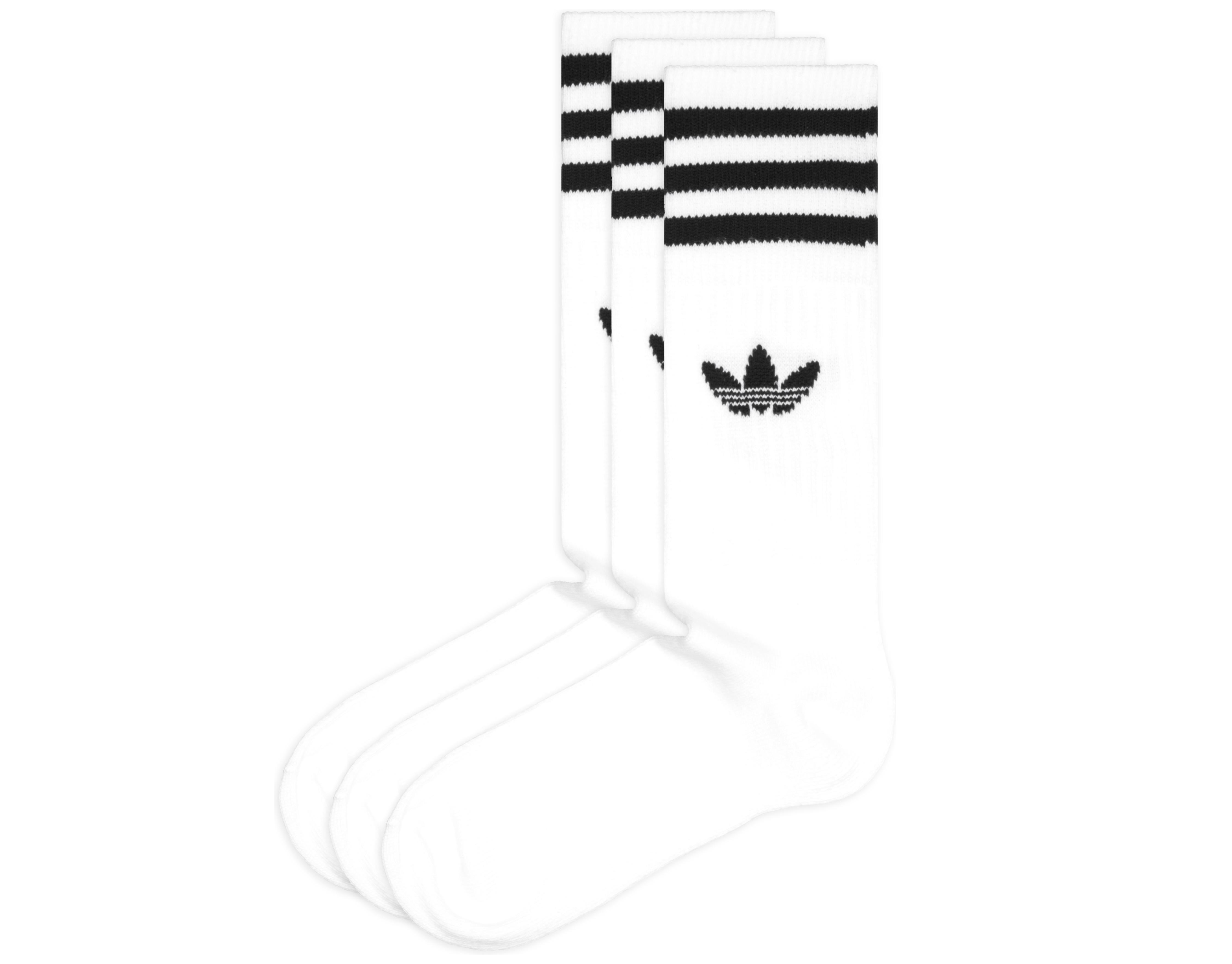 a4b45ed1625 adidas Originals Solid Crew Ponožky 3 páry Biela - Glami.sk