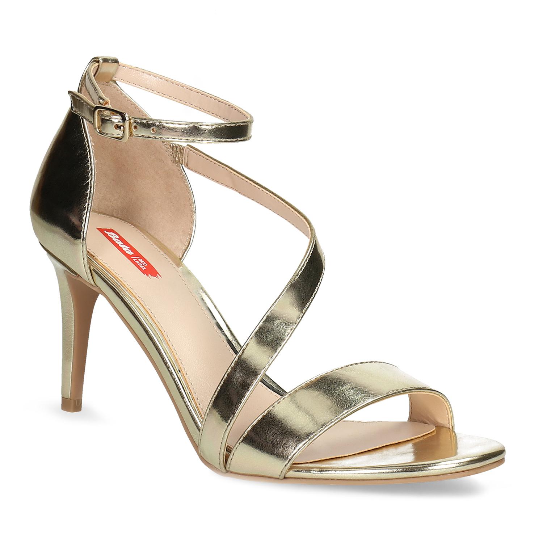 15f48a1c8a5b Bata Red Label Zlaté sandále na ihličkovom podpätku - Glami.sk