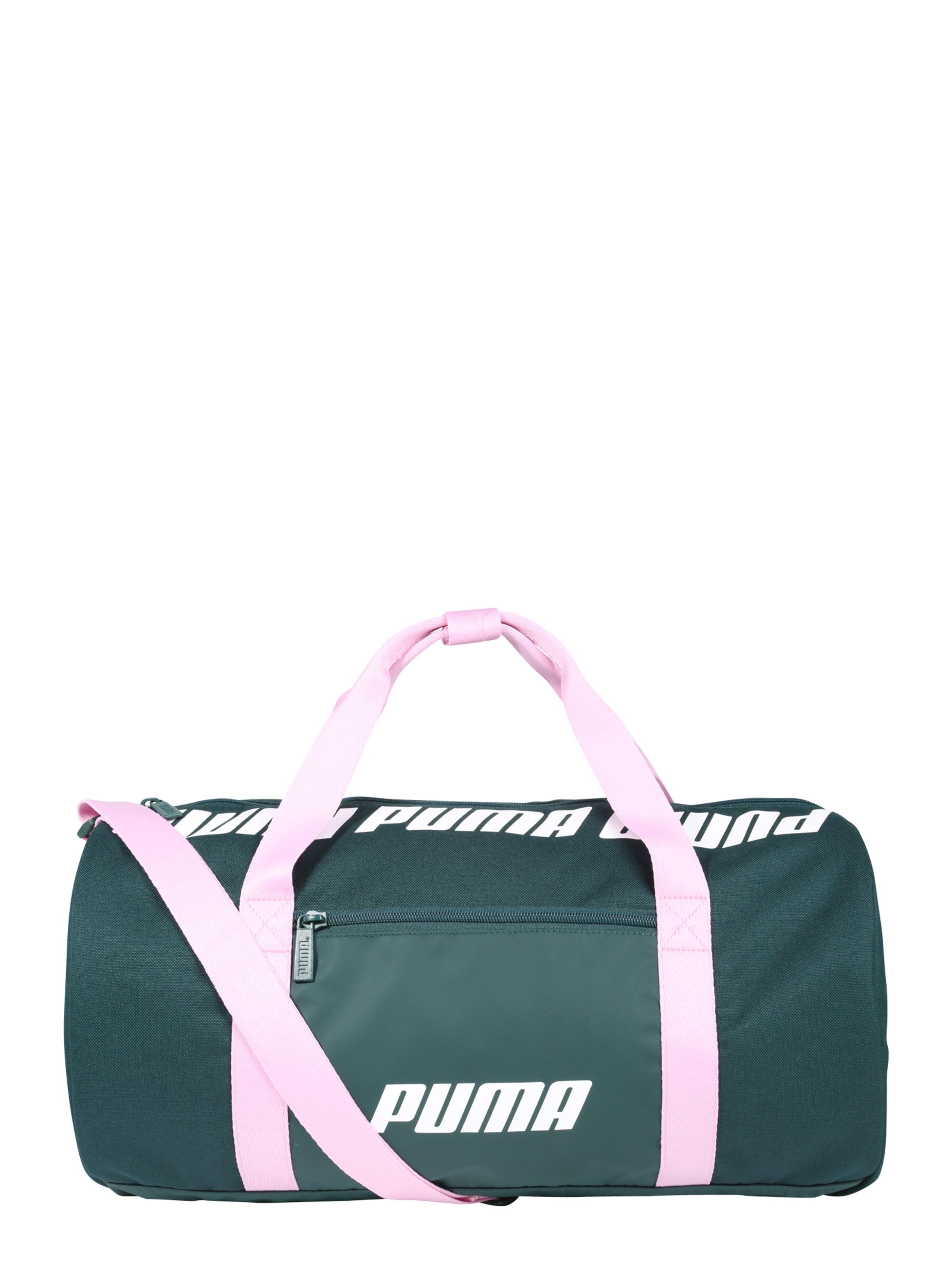 PUMA Sportovní taška  WMN Core Barrel  smaragdová   světle růžová ... 07bc9baafaa