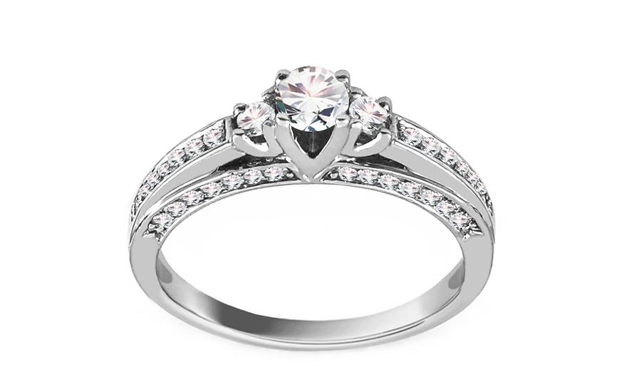 5ffd65ad9 iZlato Forever Zásnubní prsten z bílého zlata s diamanty 0,500 ct Idette  ROYBR026A. 1