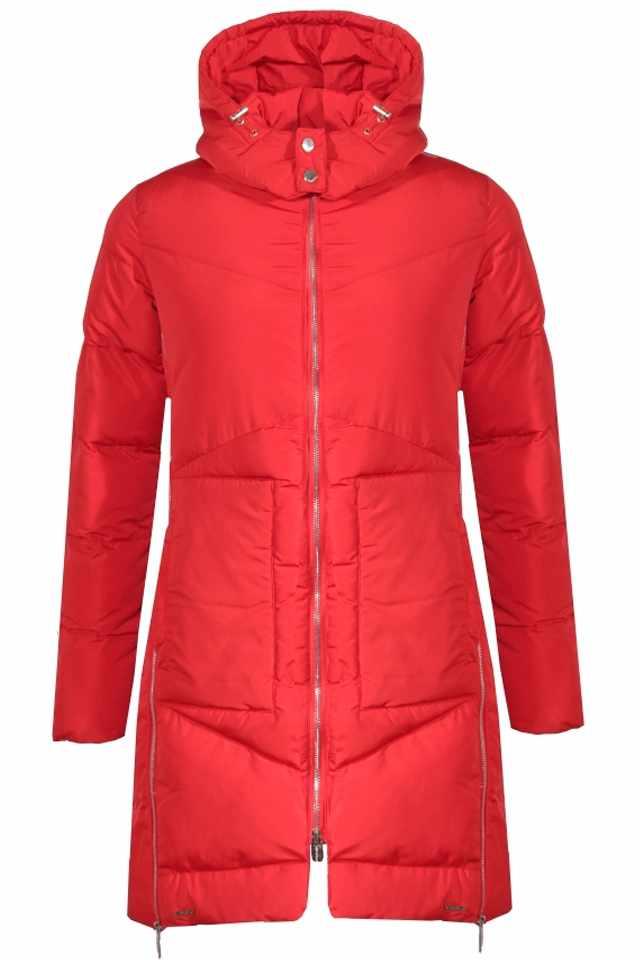 905079f75b Rino Pelle dámský prošívaný zimní kabát KITA červený - Glami.cz