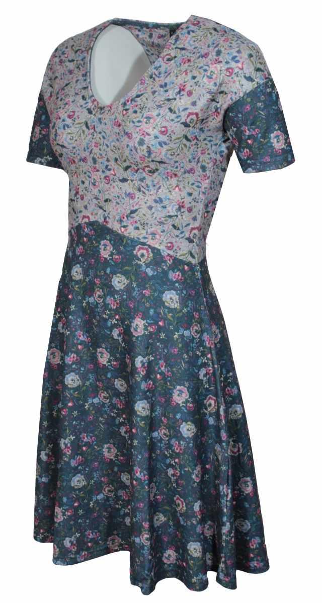 16c286ddb600 Smash dámské úpletové šaty s potiskem MAISIE modré - Glami.cz