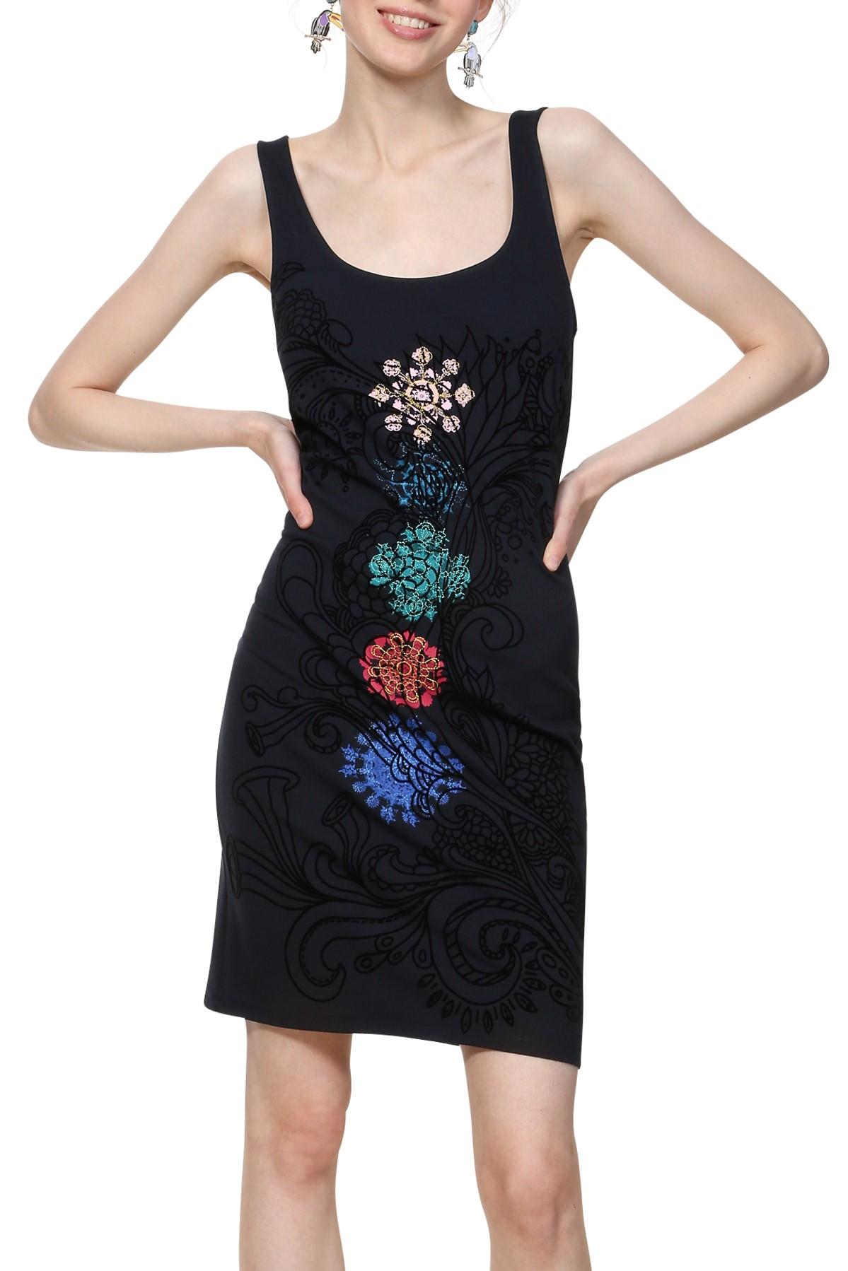 da4ed7685c2d Desigual temne modré šaty Vest Coque s mandalami - Glami.sk