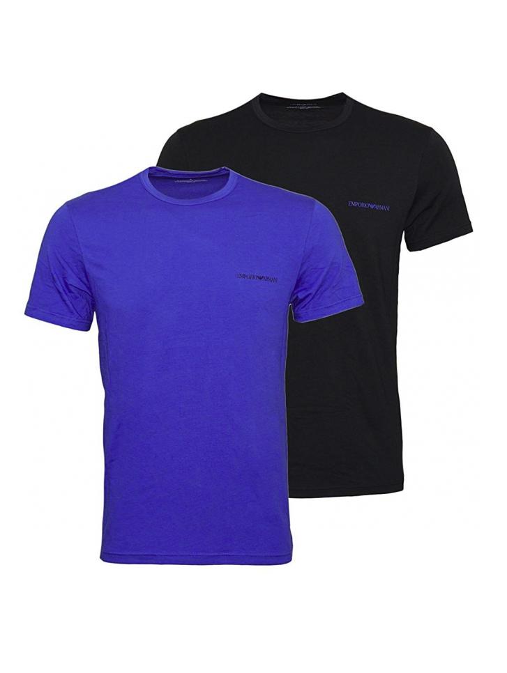 6f4d7b78499d EMPORIO ARMANI pánské trička 2 ks - modré