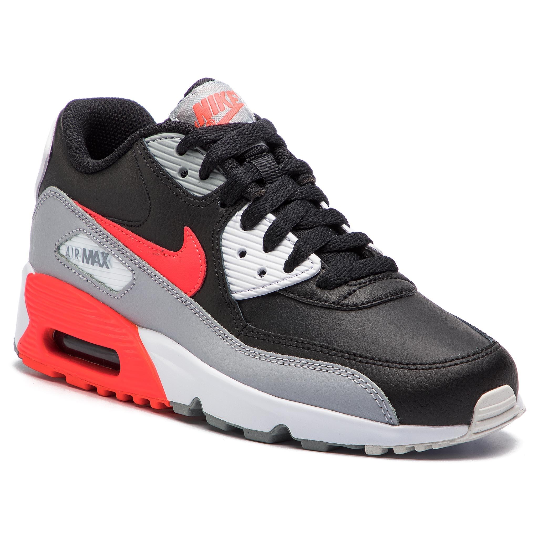 Cipő NIKE - Air Max 90 Ltr (GS) 833412 024 Wolf Grey Bright Crimson Black.  Új -16% Cipő NIKE ... b2d13cc78d