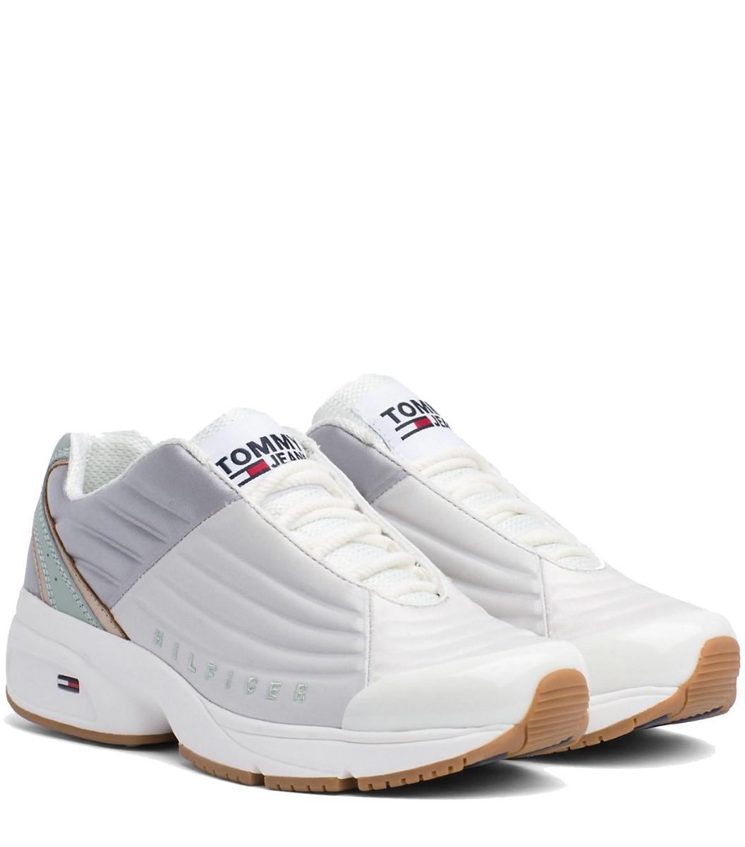 Tommy Hilfiger biele tenisky na platforme WMN Heritage Tommy Jeans Sneaker  Drizzle 97e3f7c78c7