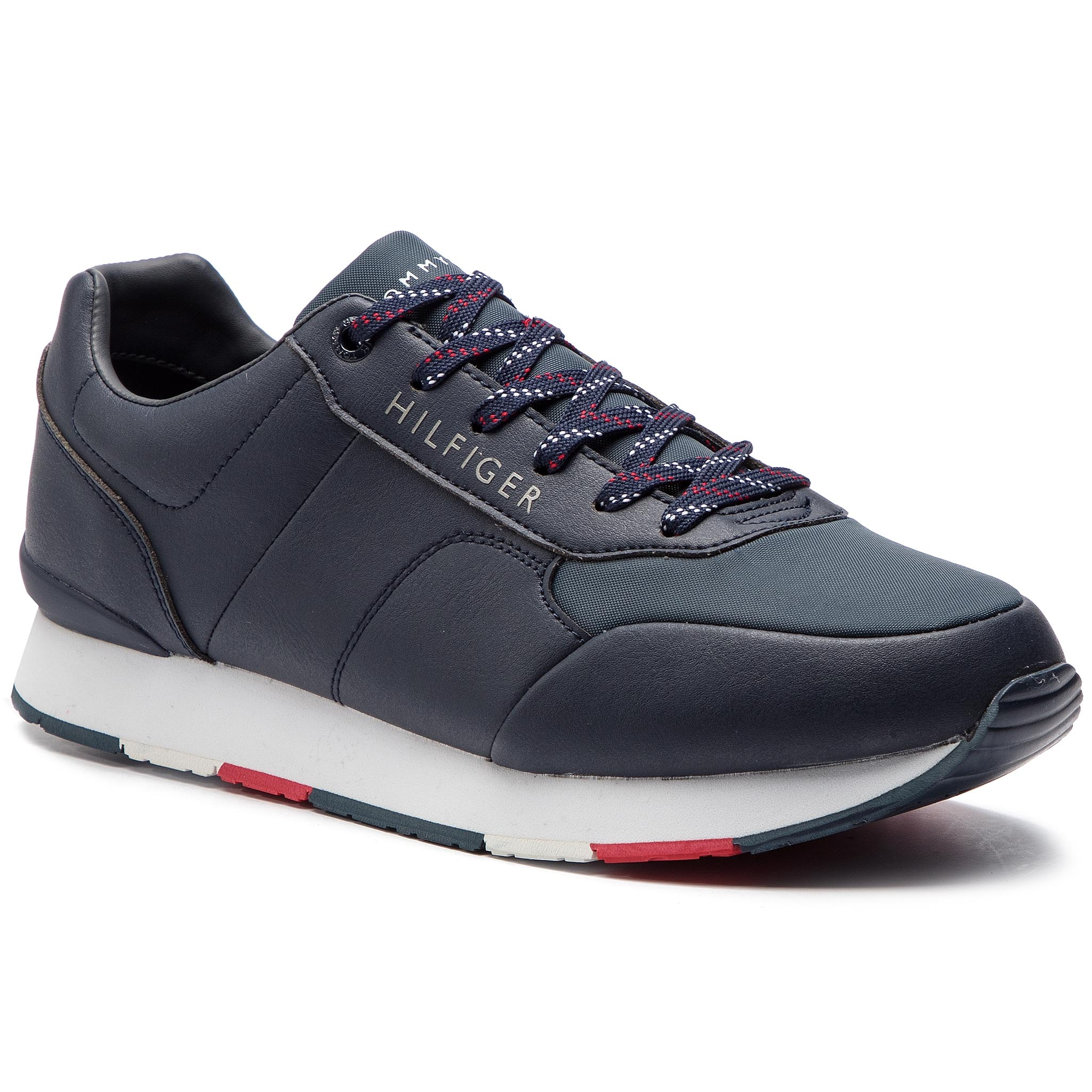 d12820639a Sportcipő TOMMY HILFIGER - Corporate Leather Runner FM0FM02057 ...