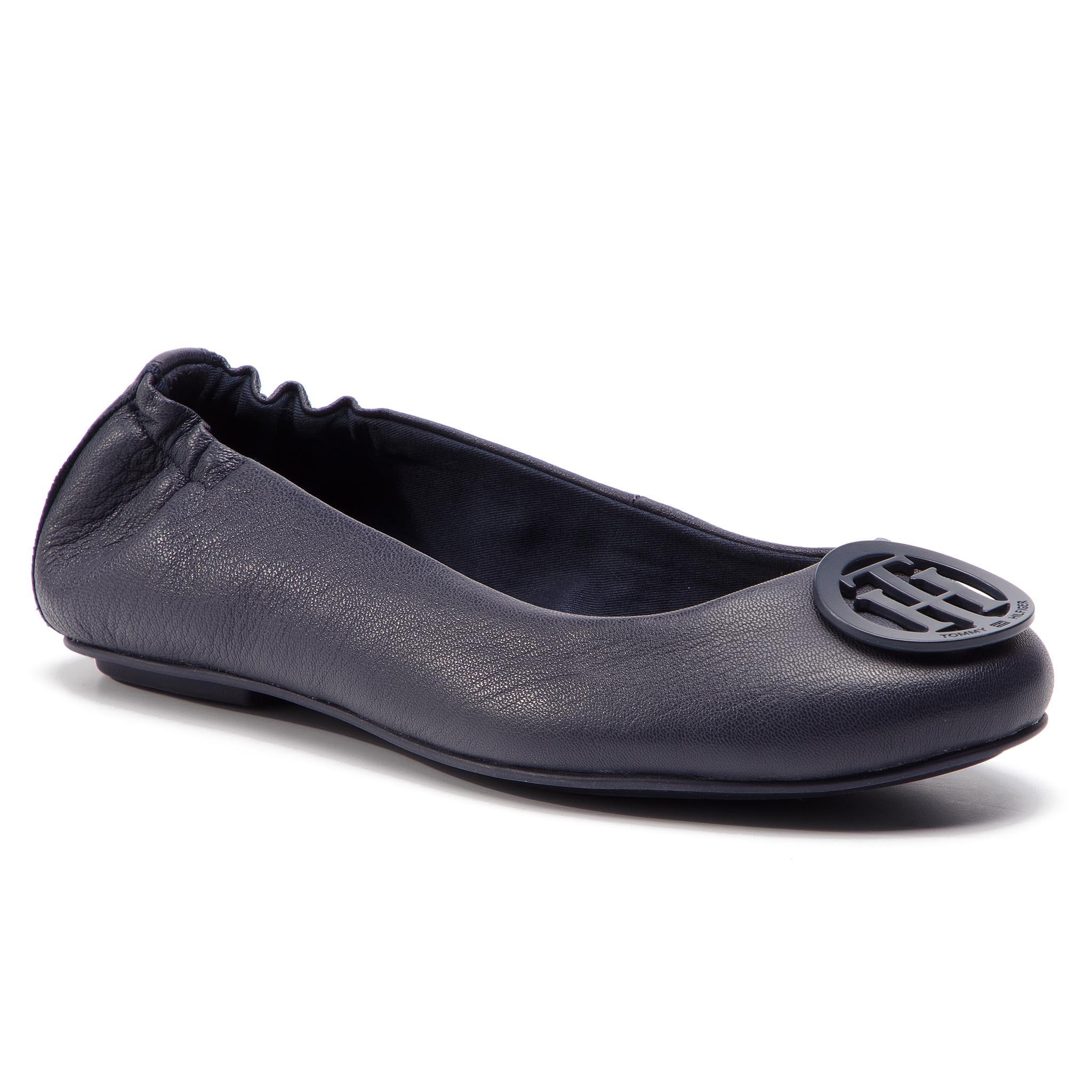 TOMMY HILFIGER Flexible Leather Balerina FW0FW04073 - Glami.cz 4a061b5602