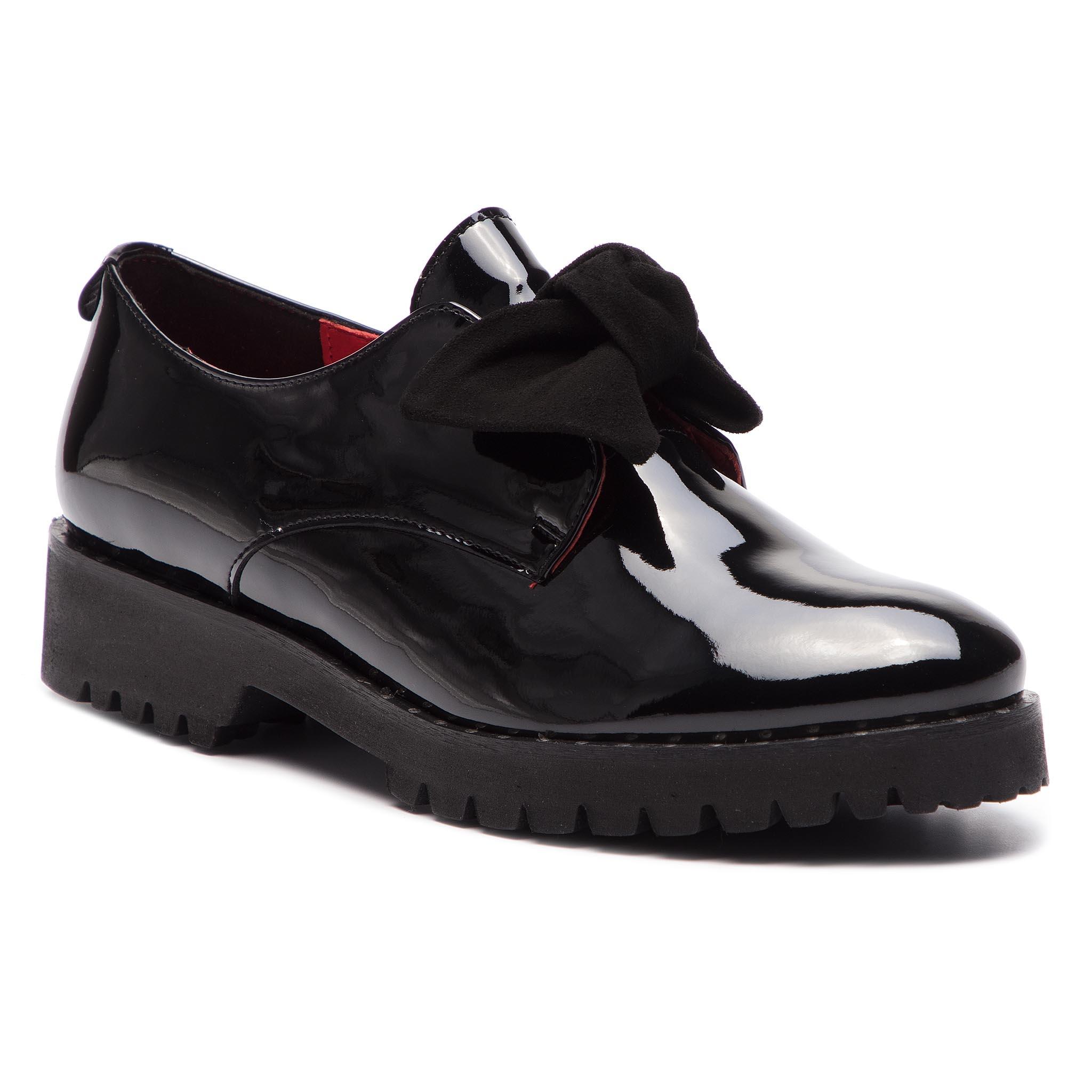 24bce4e2c2 Oxford cipők KARINO - 2956/090-P Fekete - Glami.hu