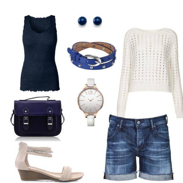 Letní modro- bílá