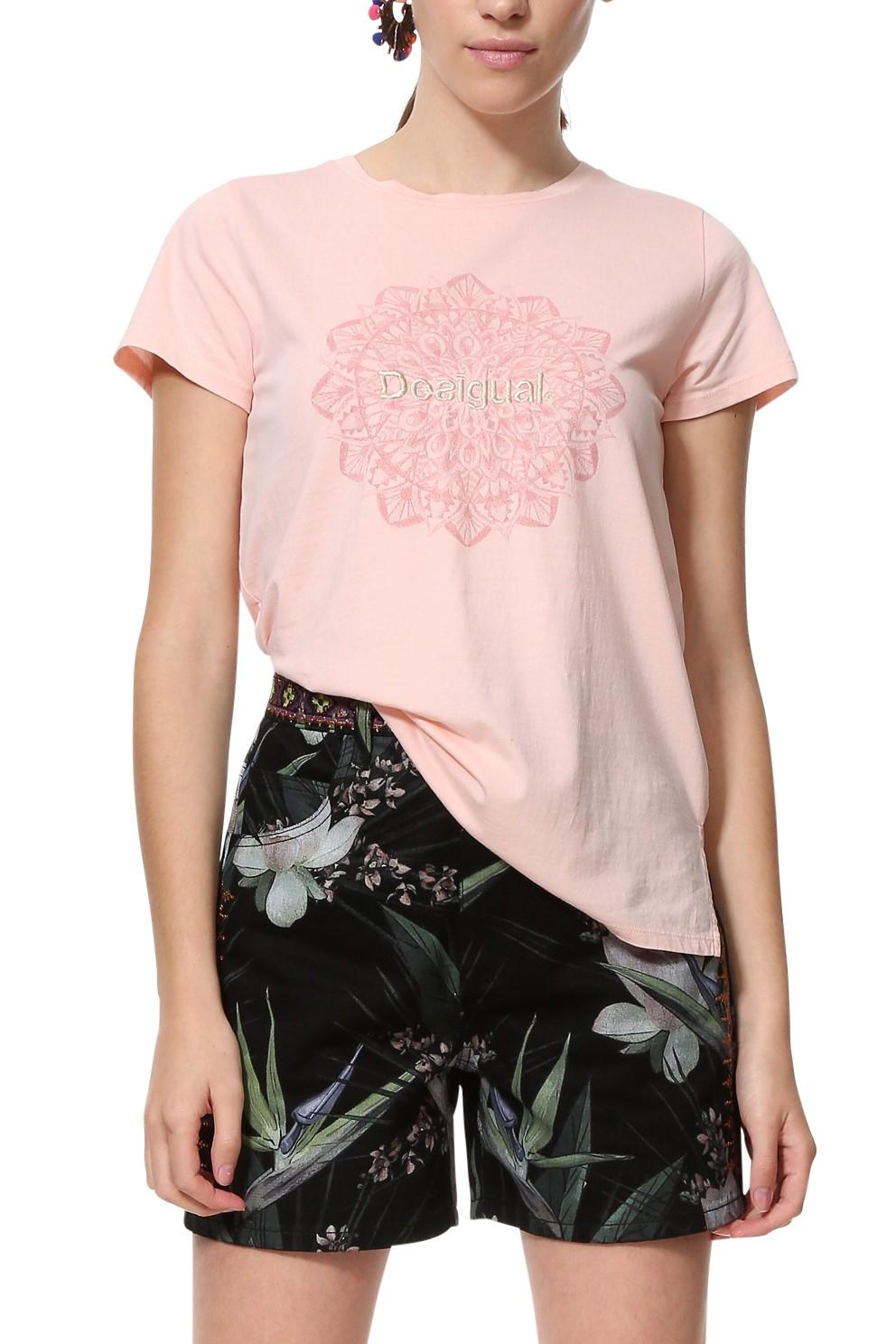 Desigual ružové športové tričko TS Manchester - Glami.sk fc589aca9bd