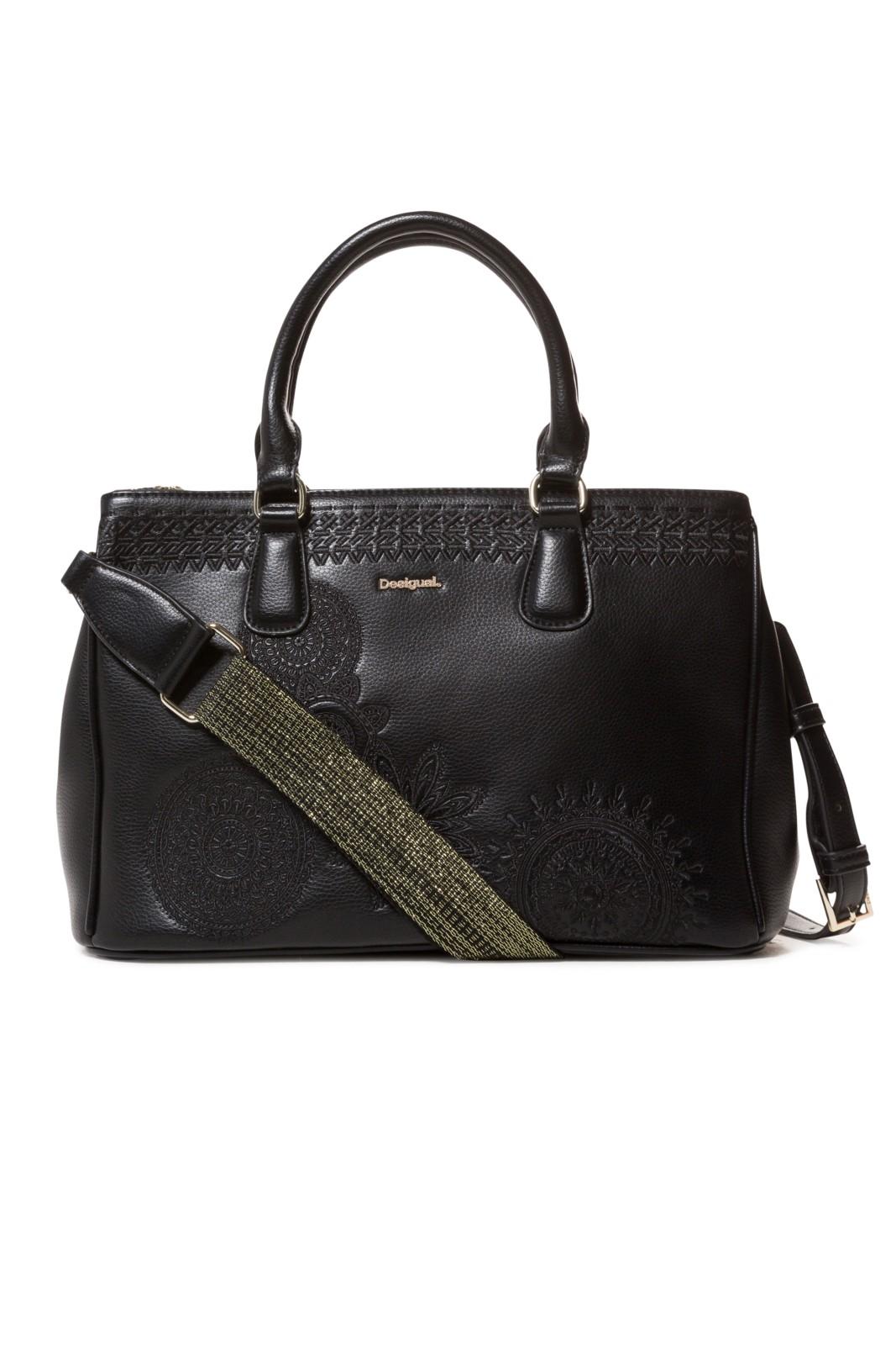 Desigual černá kabelka Bols Dark Amber Cabo - Glami.cz e4b24212a14