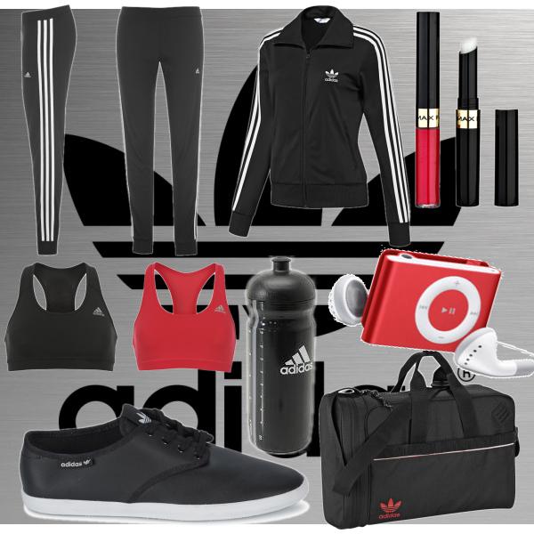Adidas, sportovní outfit.