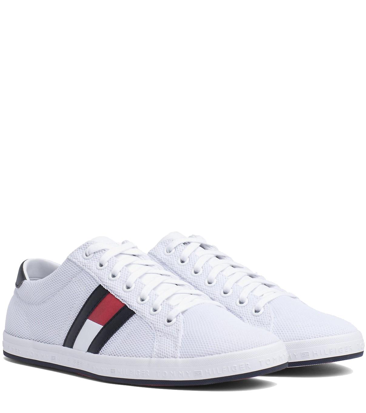 42abf431dd Tommy Hilfiger fehér férfi tornacipő Essential Flag Detail Sneaker White. Tommy  Hilfiger fehér férfi tornacipő ...