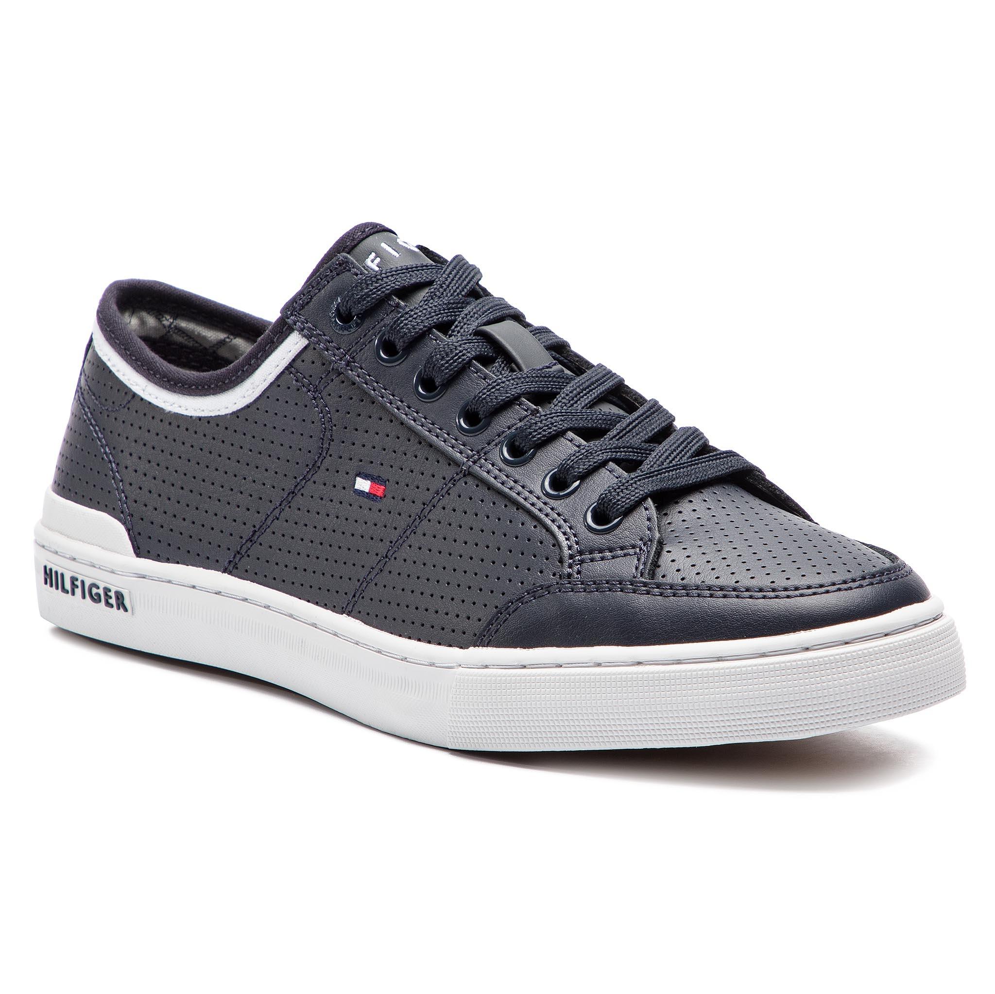 Nové Polobotky TOMMY HILFIGER - Core Corporate Leather Sneaker FM0FM00552  Midnight 403 fe95fef9fa8