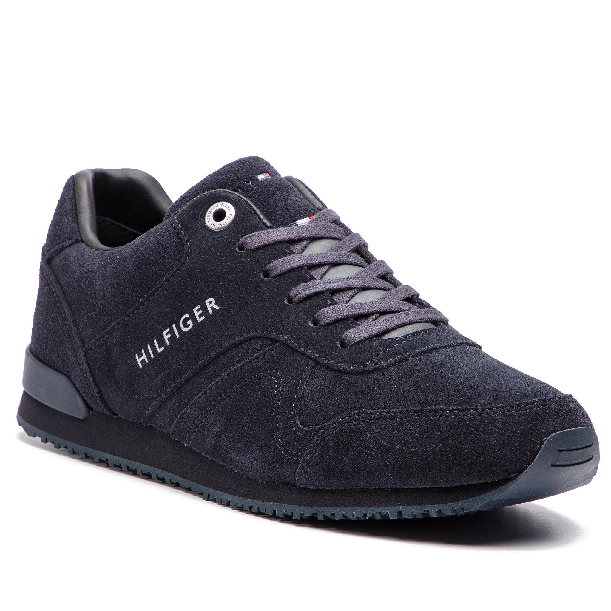 Sneakersy TOMMY HILFIGER - Iconic Suede Runner FM0FM02043 Midnight ... 05705e3c37