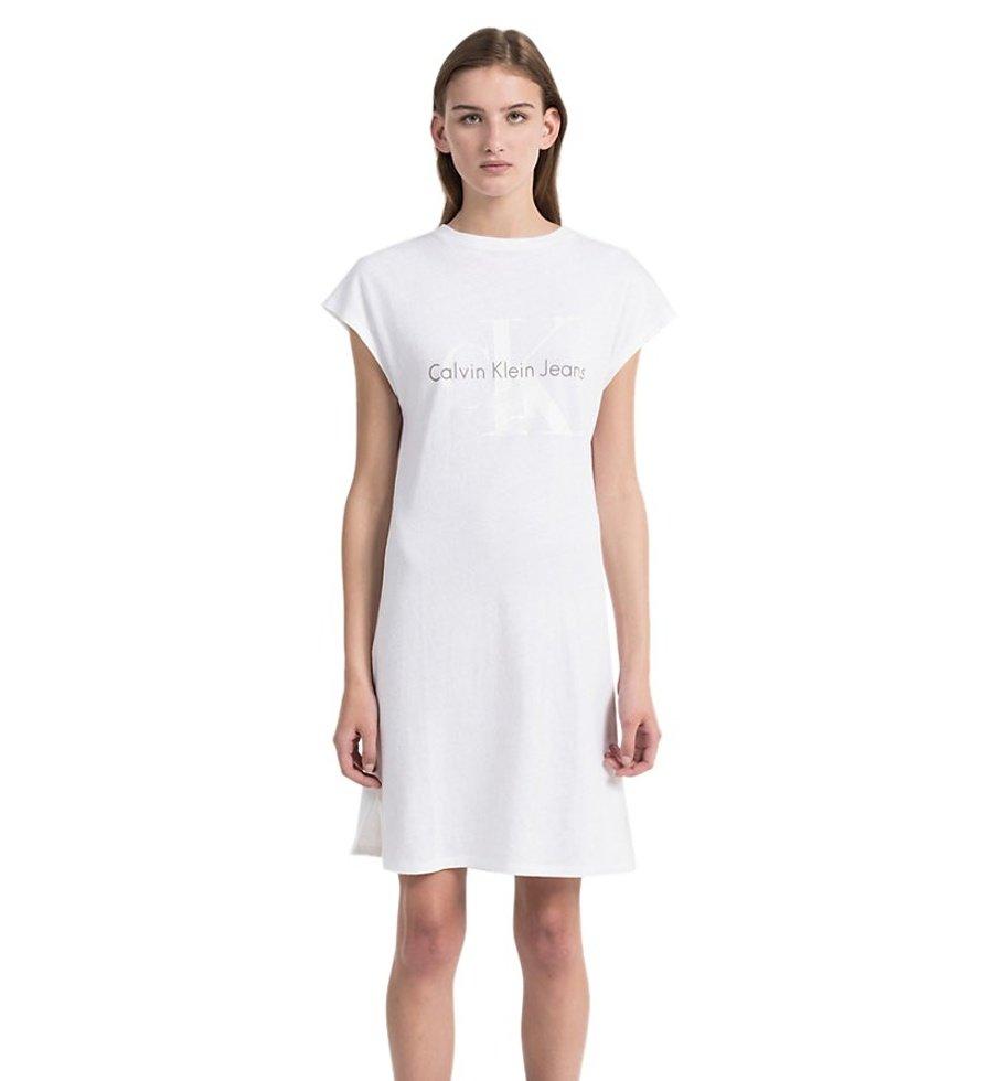 5c5b958428 Calvin Klein dámske biele šaty Doon - Glami.sk