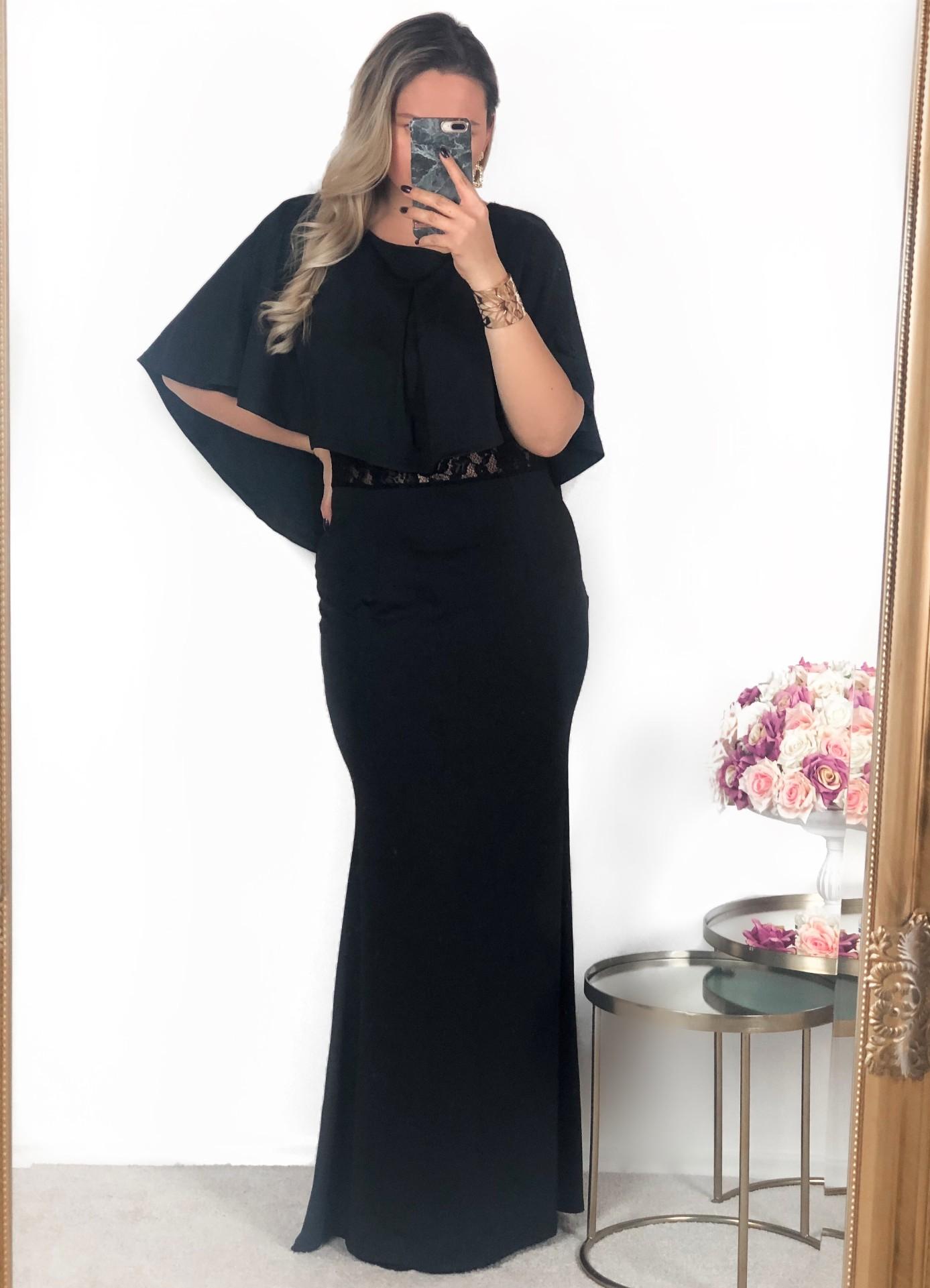 ZAZZA Čierne spoločenské šaty s čipkou na chrbte - Glami.sk f99257efd15