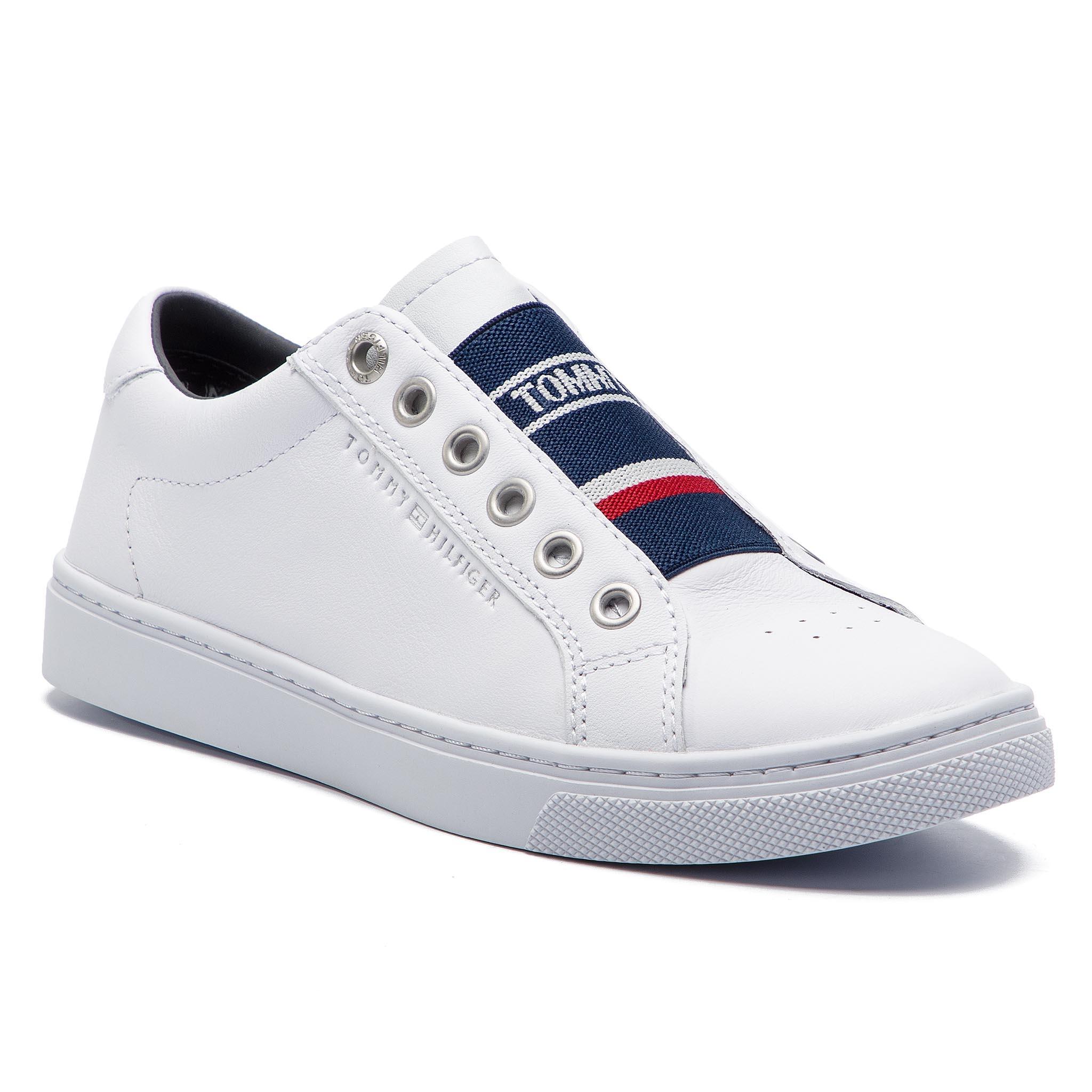 f695e57f28 Sportcipő TOMMY HILFIGER - Tommy Elastic City Sneaker FW0FW04019 White 100