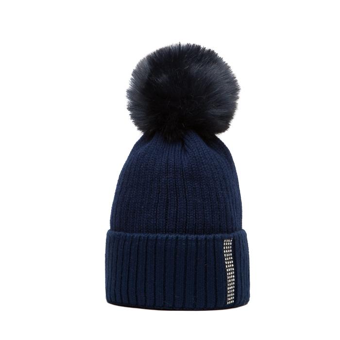 ... modrá čepice Woolk s kamínkovým páskem a modrou bambulí. -20%.  Námořnicky ... 8dbb3c990a