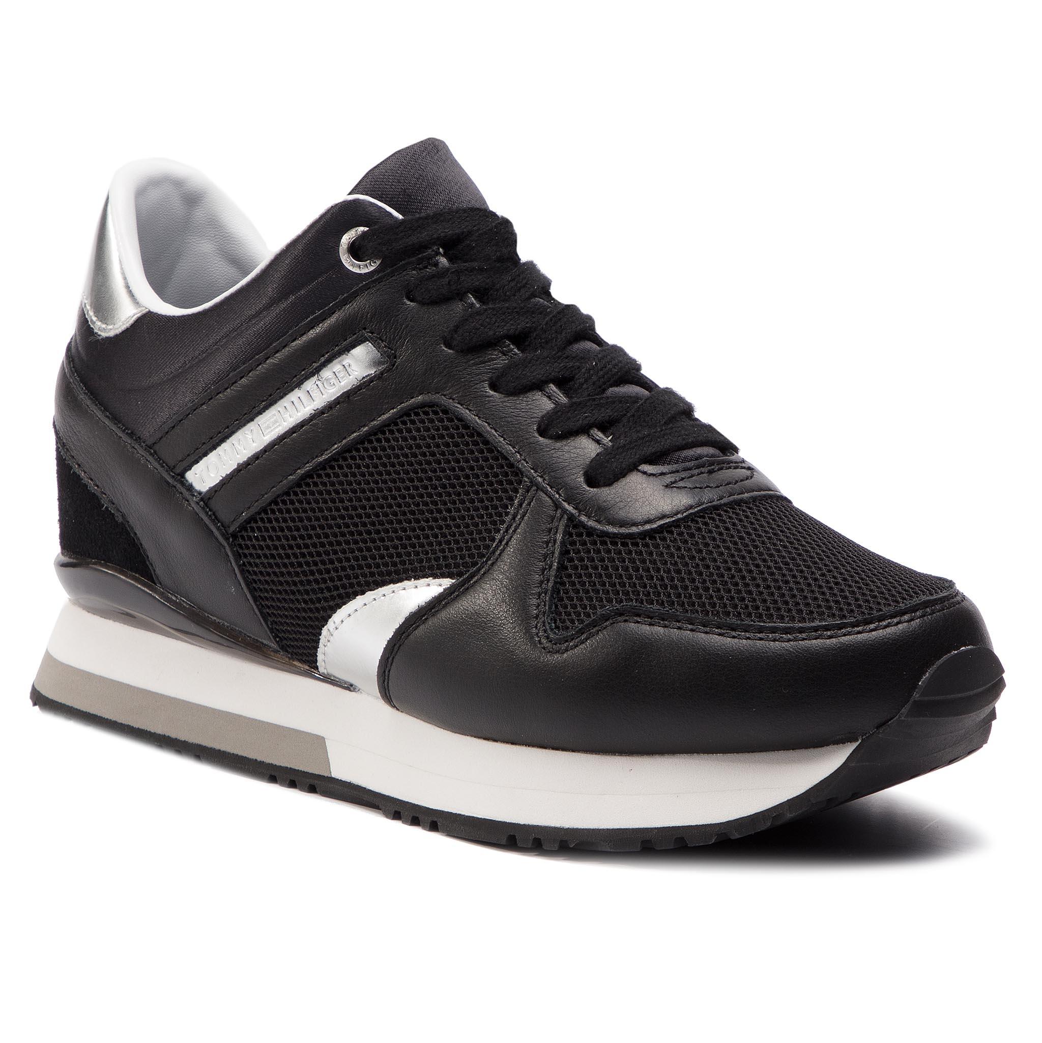 ... TOMMY HILFIGER - Glitter Textile Wedge Sneaker FW0FW03893 Black 990.  -6%. Sportcipő ... 345b82070f