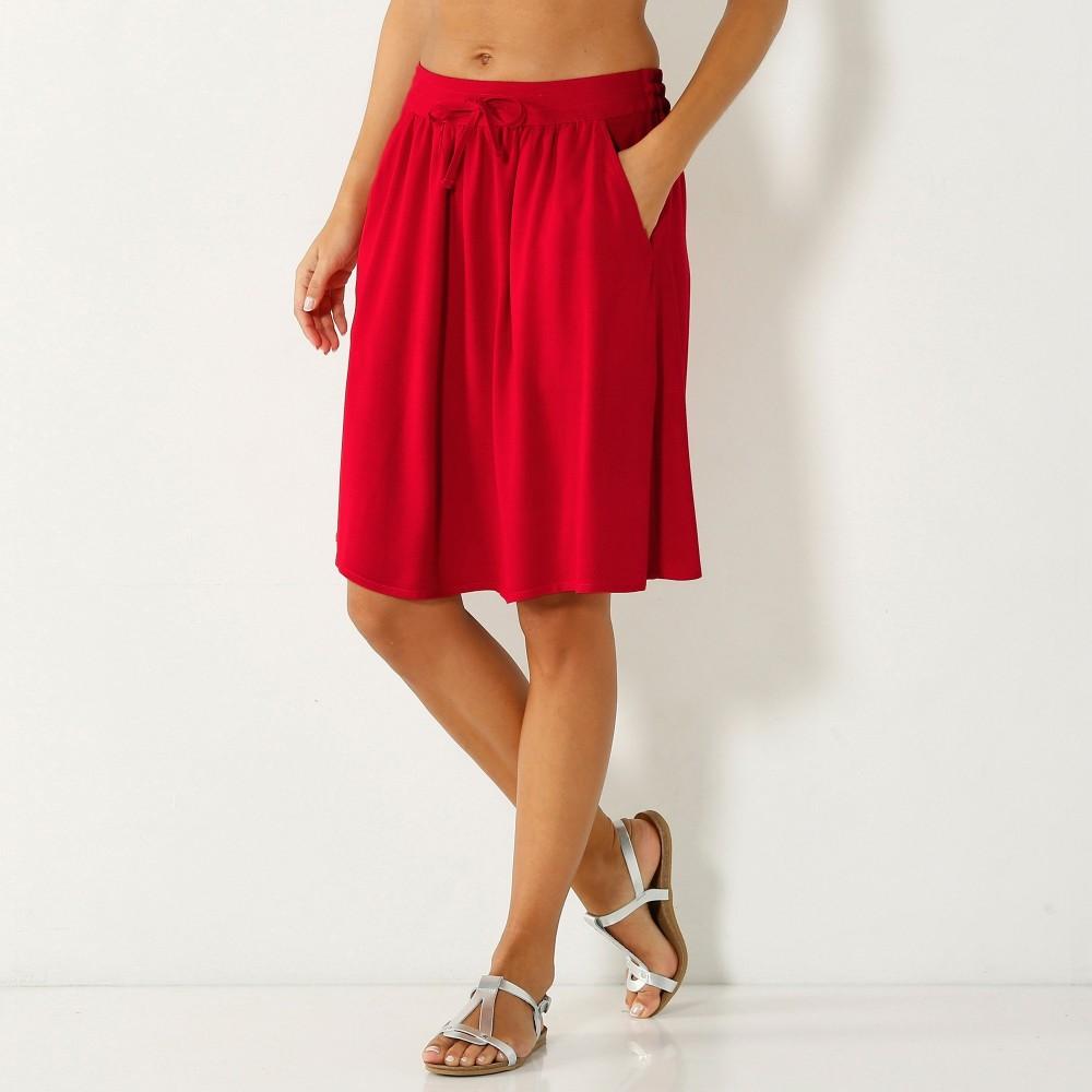 4c1636a2bd9 Blancheporte Jednofarebná vzdušná sukňa červená - Glami.sk