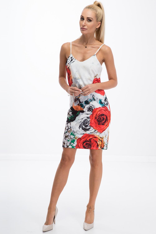FASARDI Trendy šaty na ramienka s červenými ružami  M - Glami.sk 0f864f4ec73