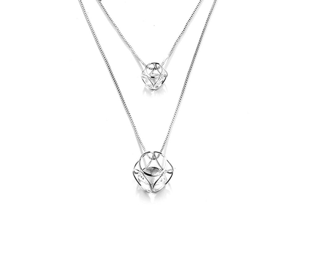 30d518c37 B-TOP Dámsky dlhý náhrdelník KRYSTAL - strieborná - Glami.sk