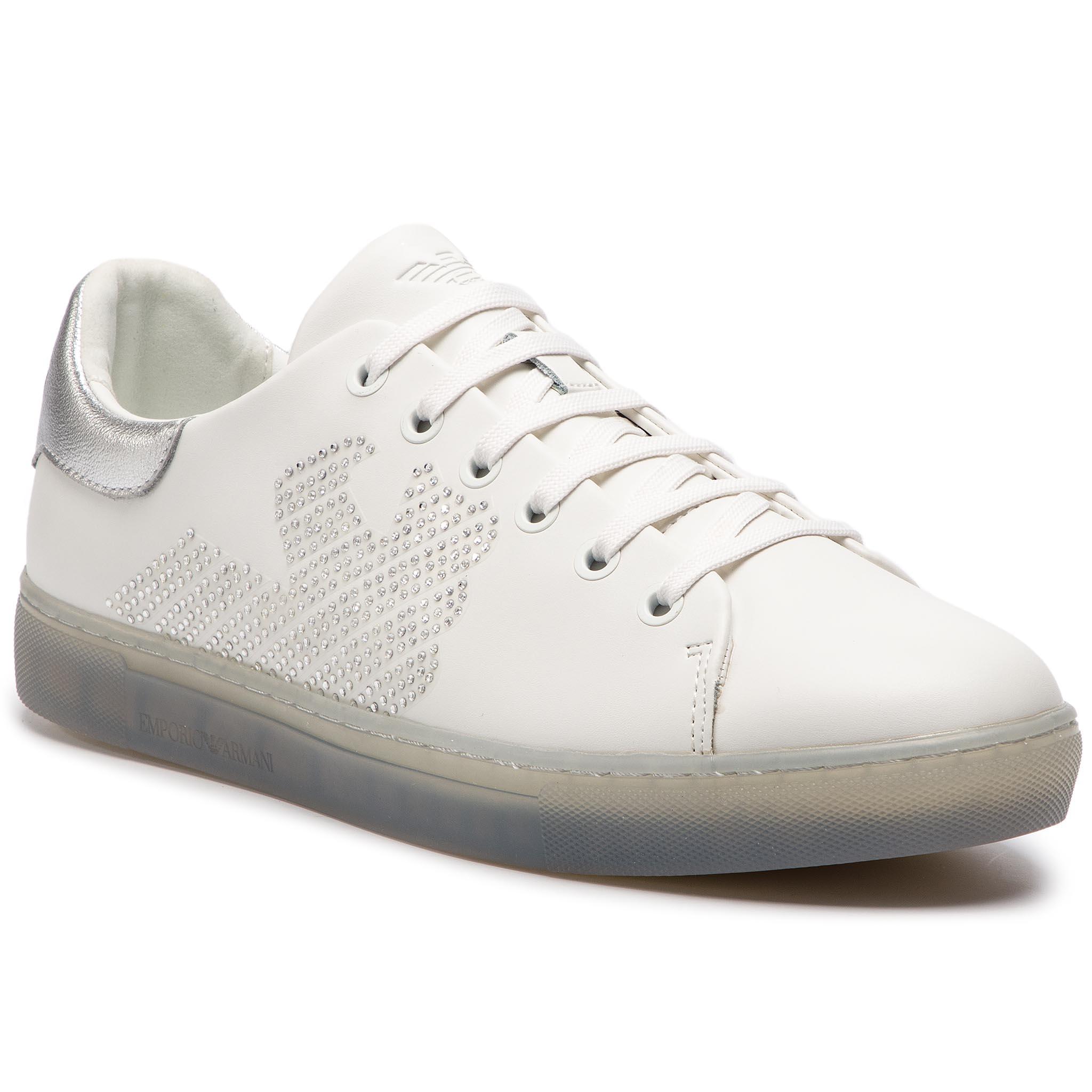 036f42cb1e Sneakersy EMPORIO ARMANI - X3X071 XL807 N627 White Silver - Glami.sk