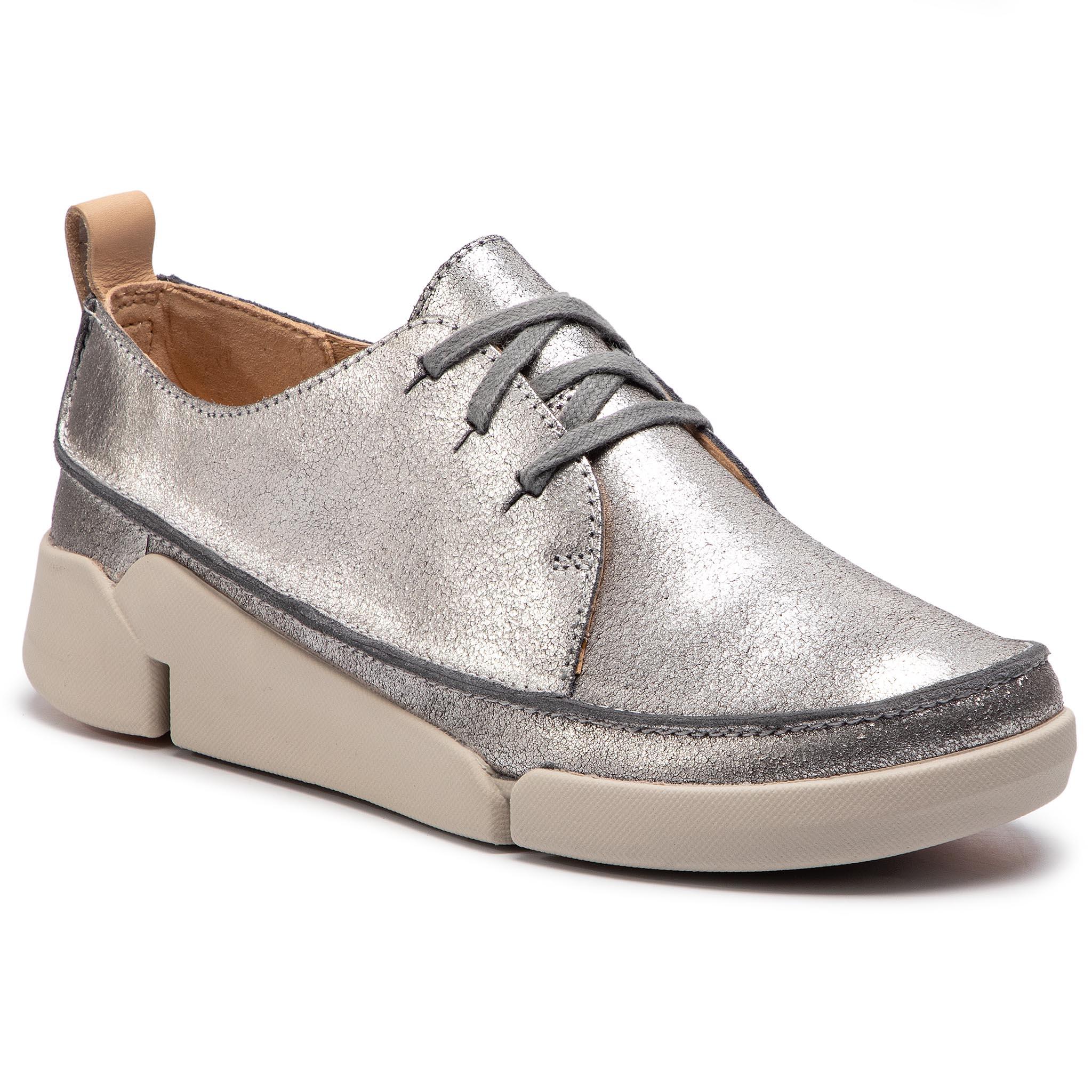 5741a9d988 Félcipő CLARKS - Tri Clara 261388984 Silver Metallic - Glami.hu