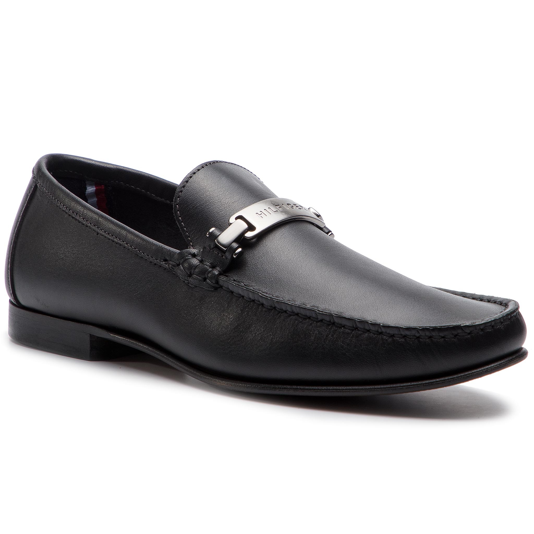 Mokasíny TOMMY HILFIGER - Core Hardware Leather Loafer FM0FM02207 Black 990.  Mokasíny TOMMY HILFIGER - Core Hardware Leather Loafer FM0FM02207 ... 6bb63dd29fa