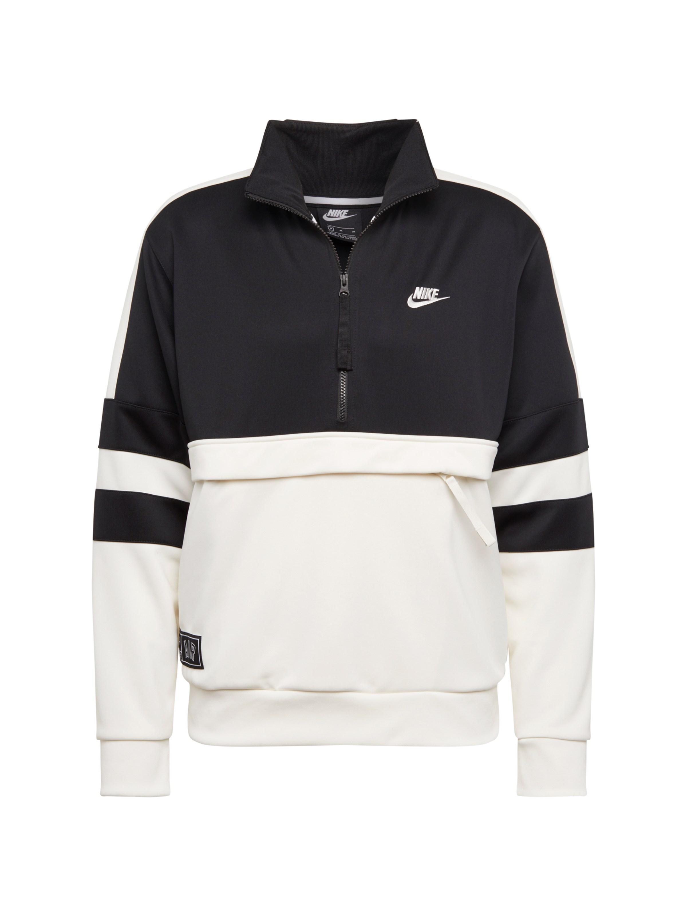 92d0a9ee9b1 Nike Sportswear Mikina černá   bílá - Glami.cz