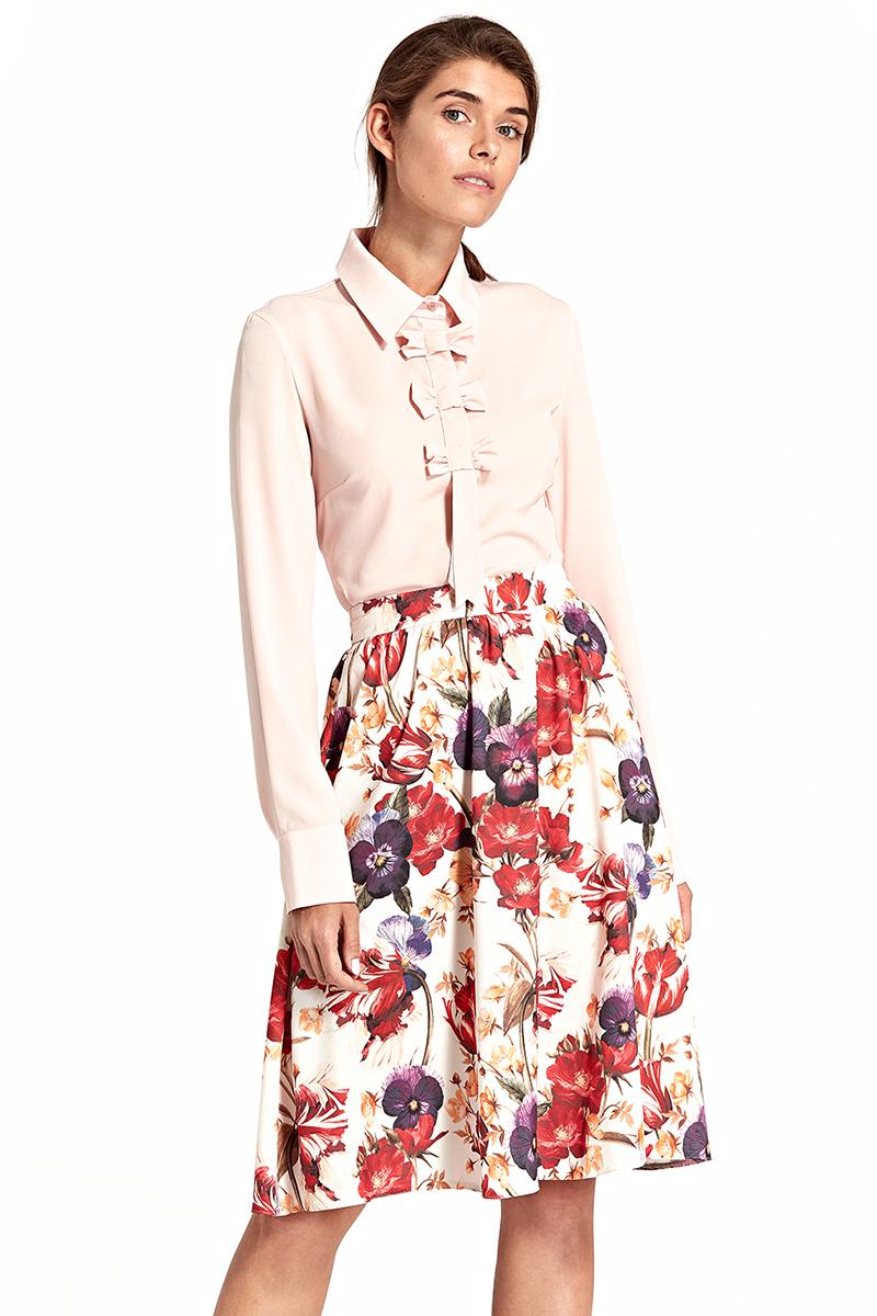 Nife Vícebarevná květovaná sukně SP40 - Glami.cz 5f9132834c
