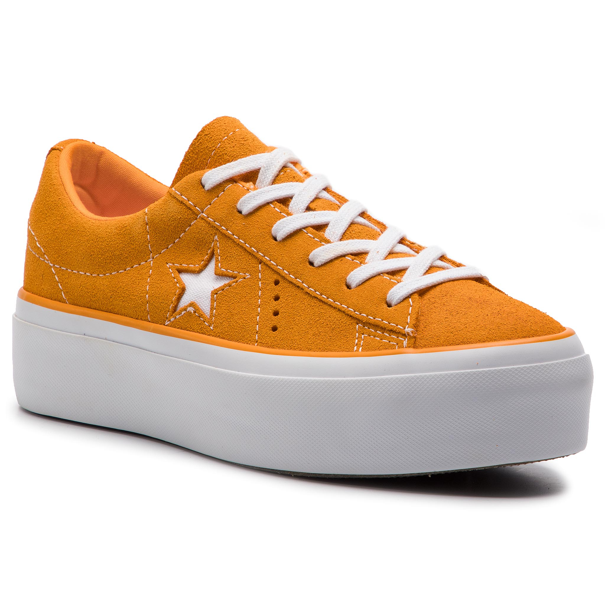 Tenisky CONVERSE - One Star Platform Ox 563487C Field Orange White ... 8f8aed7900f