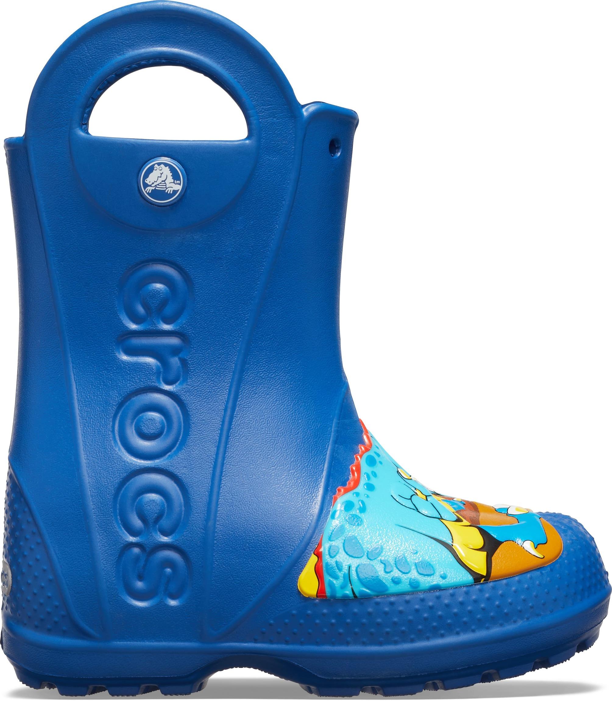 Crocs CrocsFL Dino Rain Boot K Blue Jean - Glami.sk 65b1eb751b