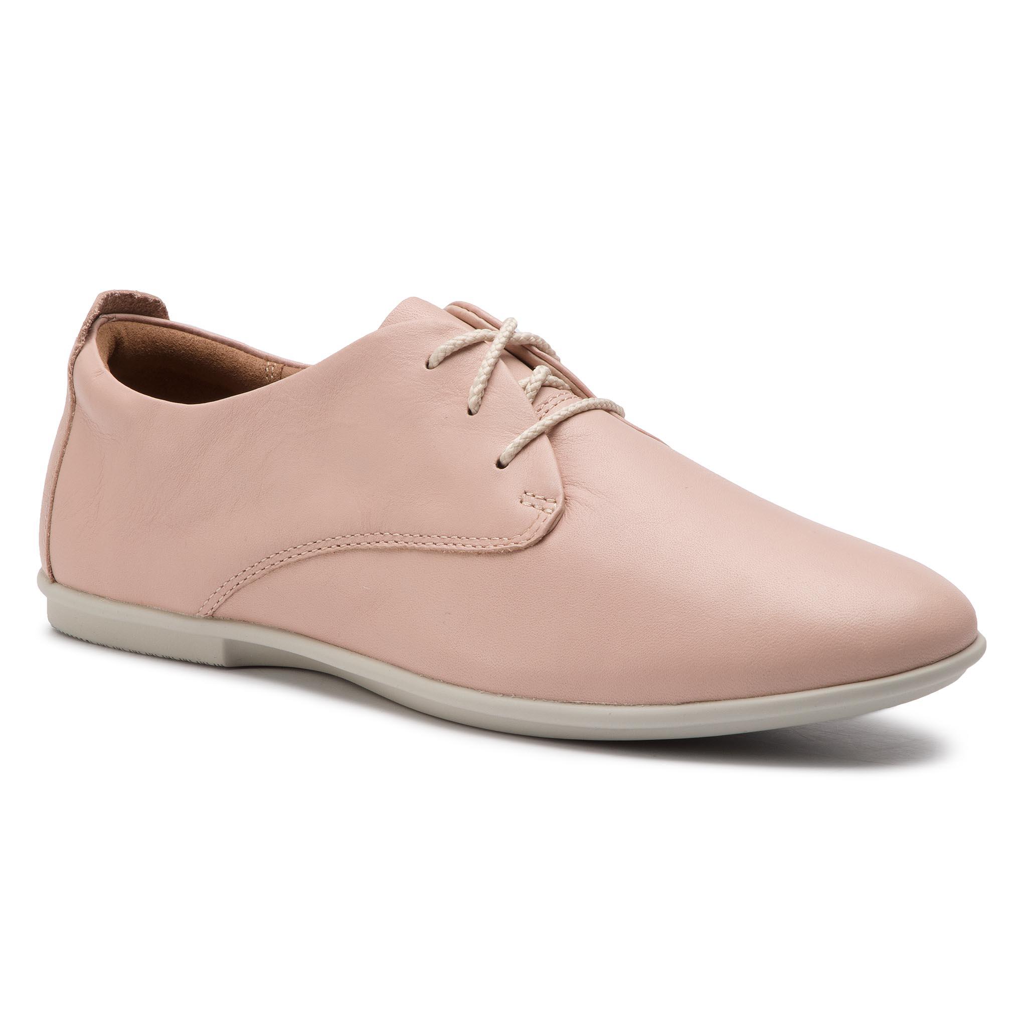 ae5c1c602b Oxford cipők CLARKS - Un Coral Lace 261403604 Blush Leather - Glami.hu