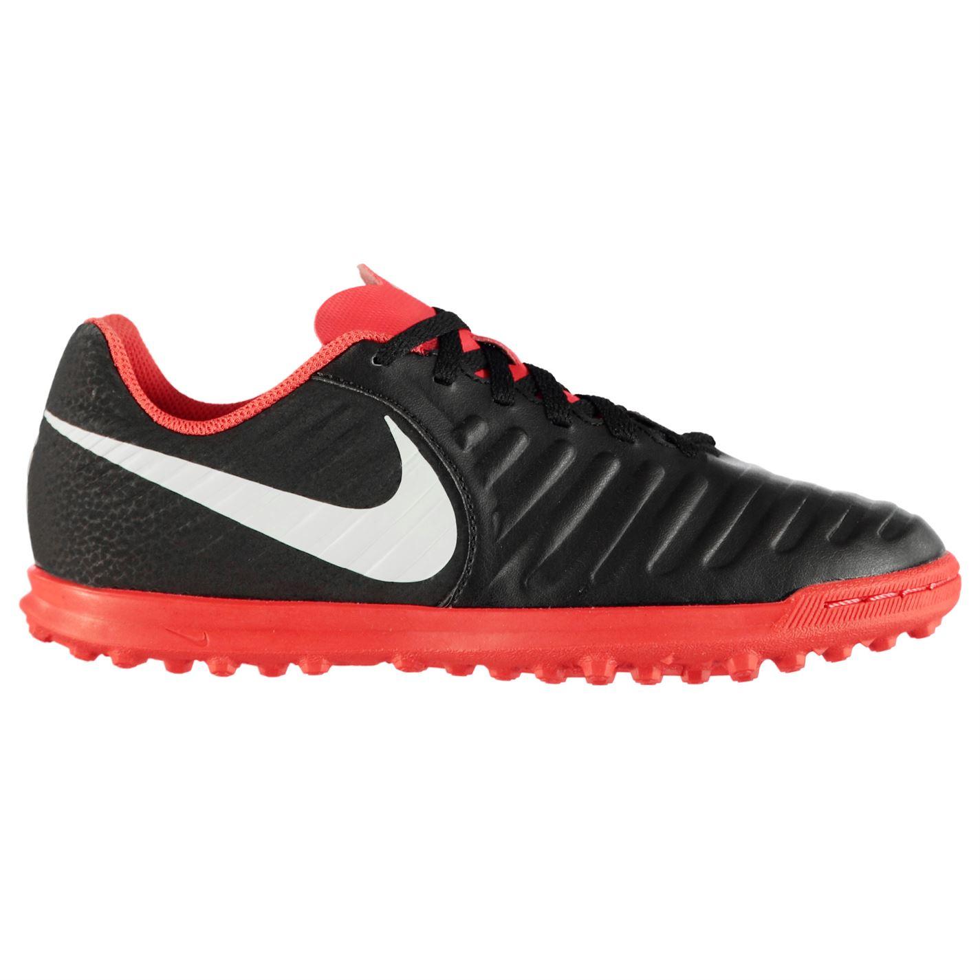 c60bc19e0 Nike Tiempo Legend Club dětské Astro Turf Trainers Black/Crimson ...