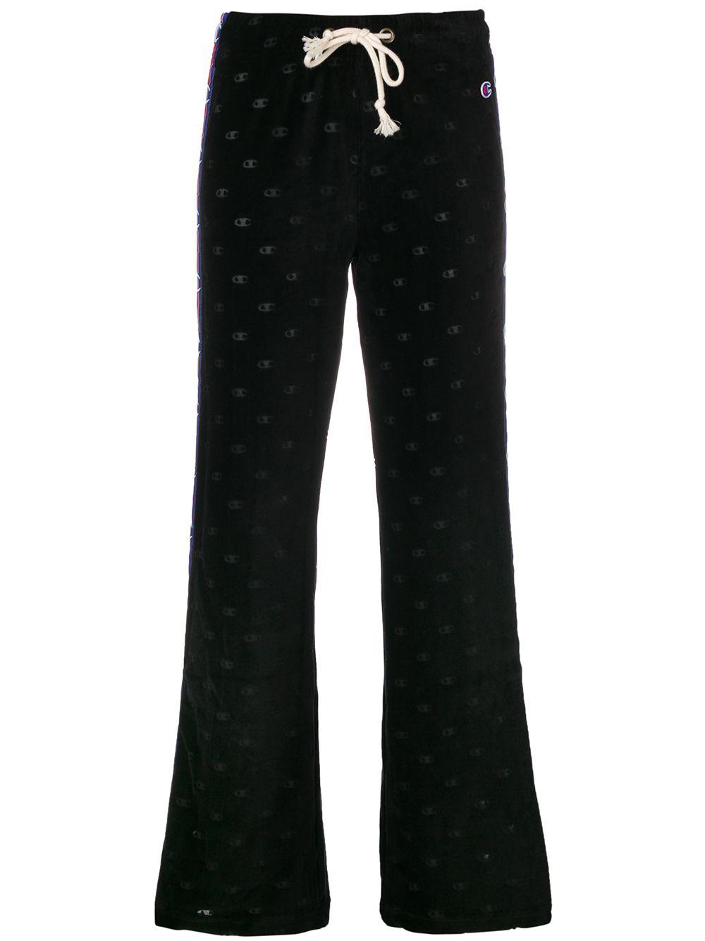 74d2bd3168 Champion logo stripe sports trousers - Black - Glami.sk