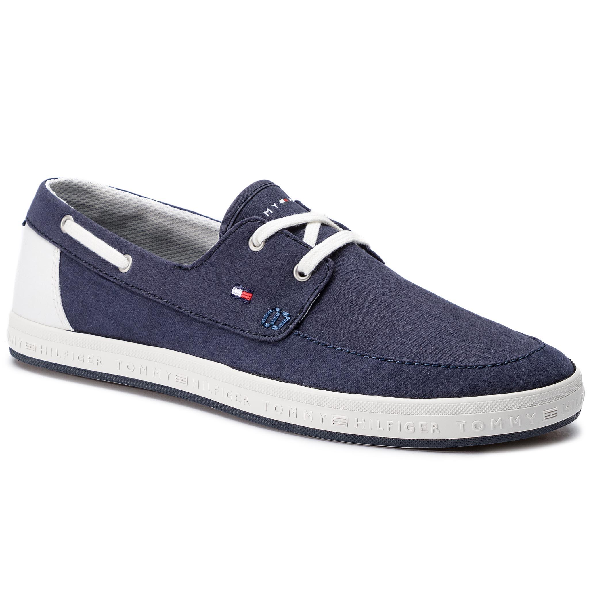 Mokaszin TOMMY HILFIGER - Seasonal Core Boat Shoe Sneaker FM0FM02205  Midnight 403 5ec0a2bc71