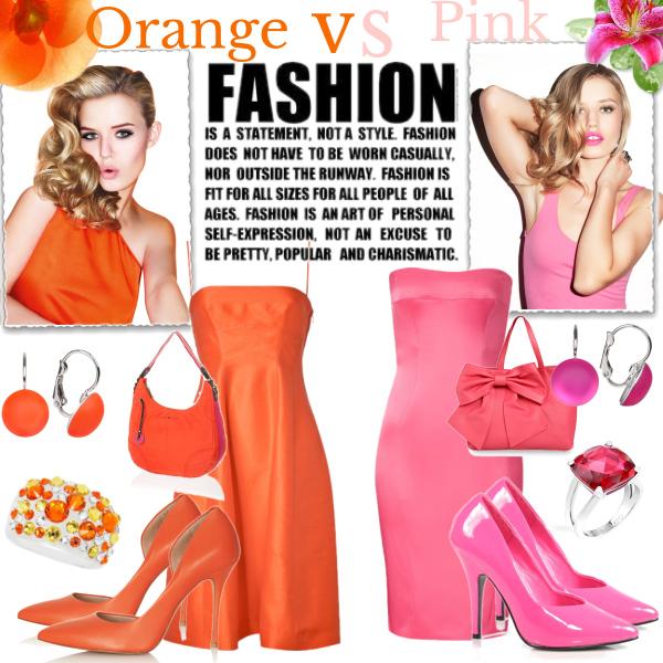 Orange vs Pink