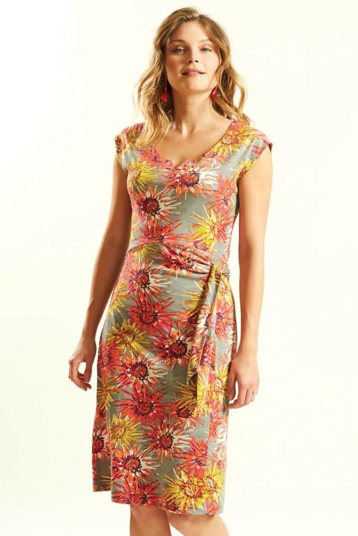 7bb6a7e968de Nomads DAHLIA dámské letní šaty ze 100% biobavlny - růžová guava ...